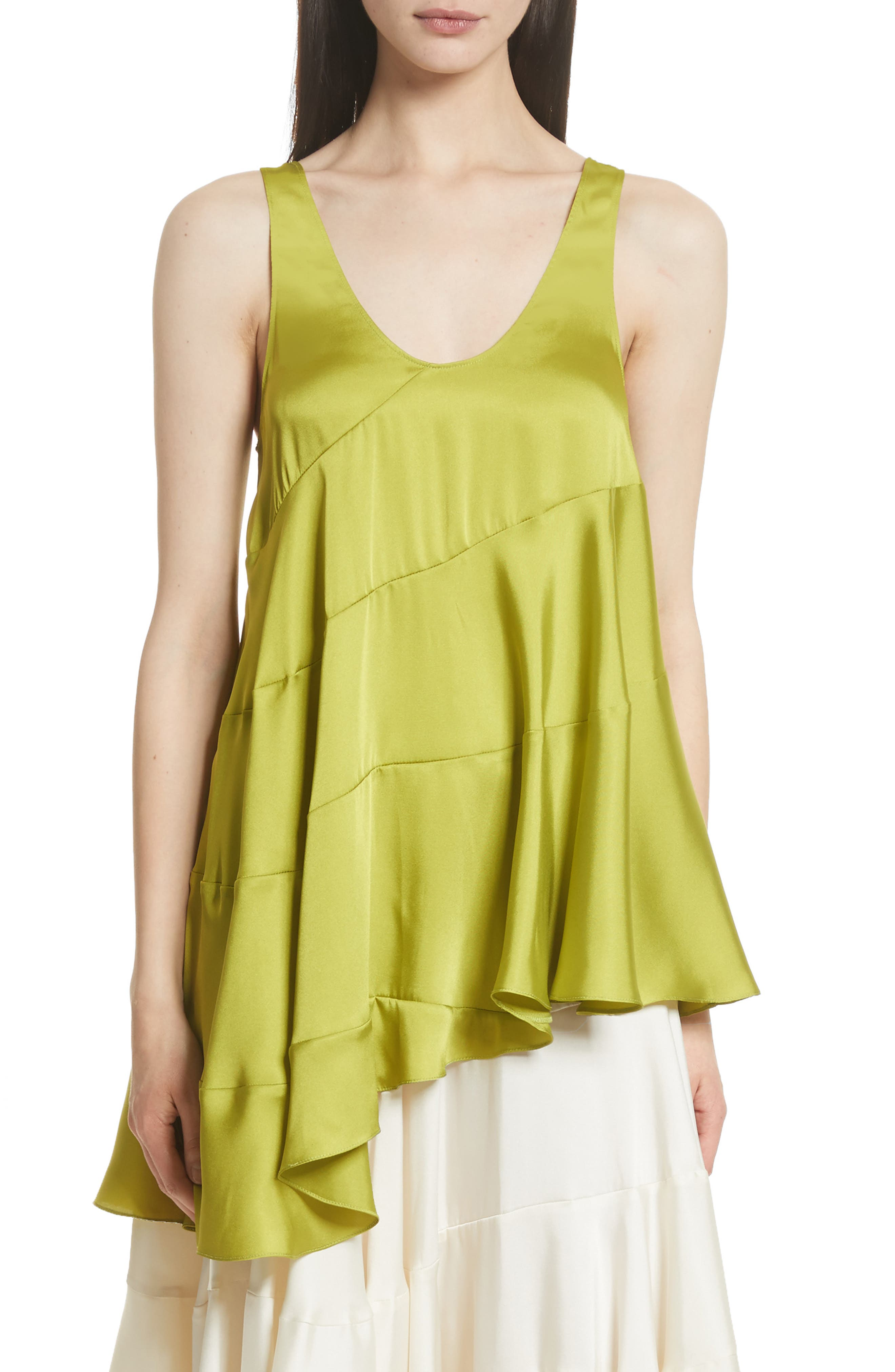 Magdalone Asymmetrical Paneled Satin Top,                         Main,                         color, 341