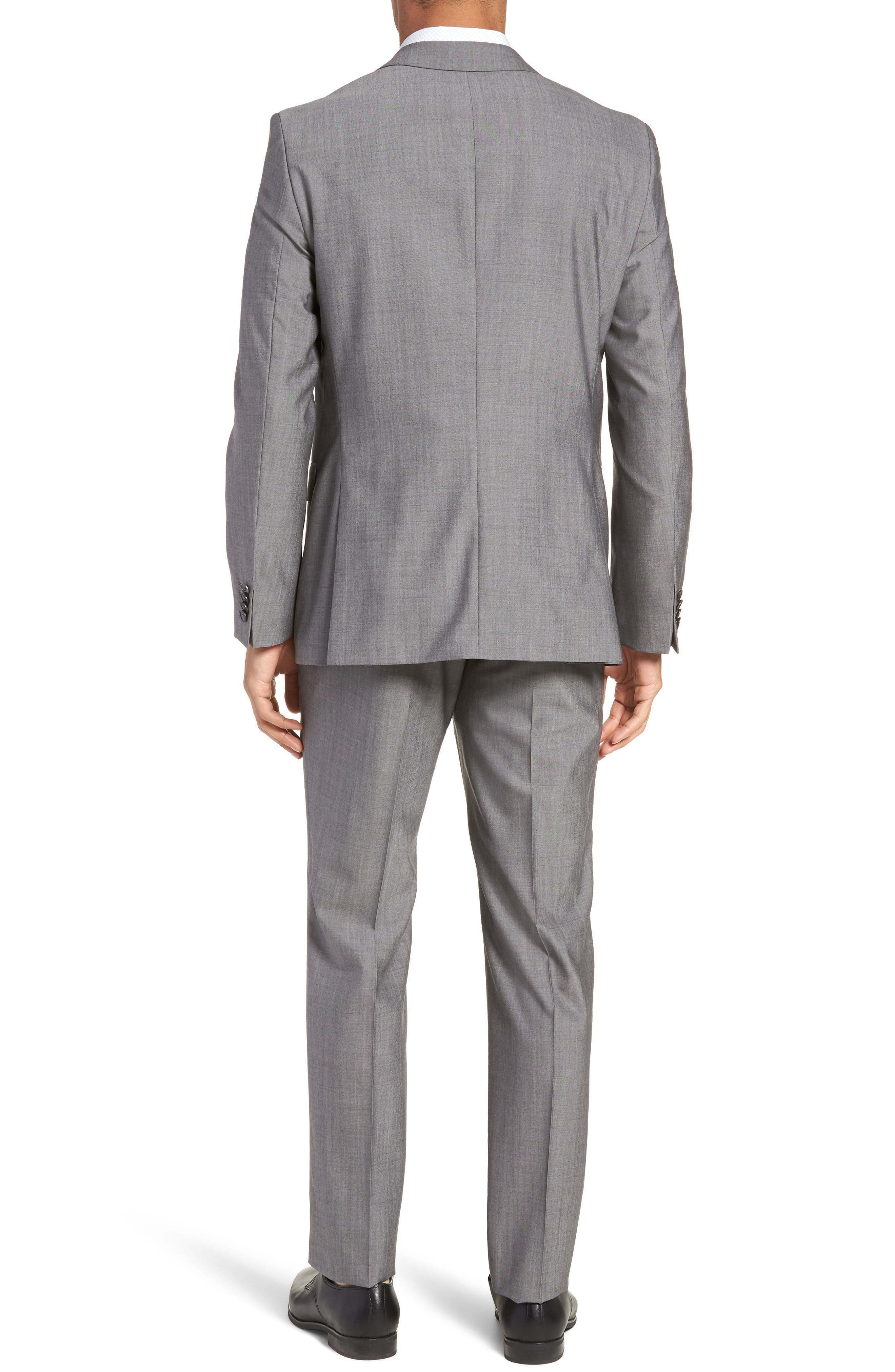 Novan/Ben Trim Fit Solid Wool Suit,                             Alternate thumbnail 2, color,                             069