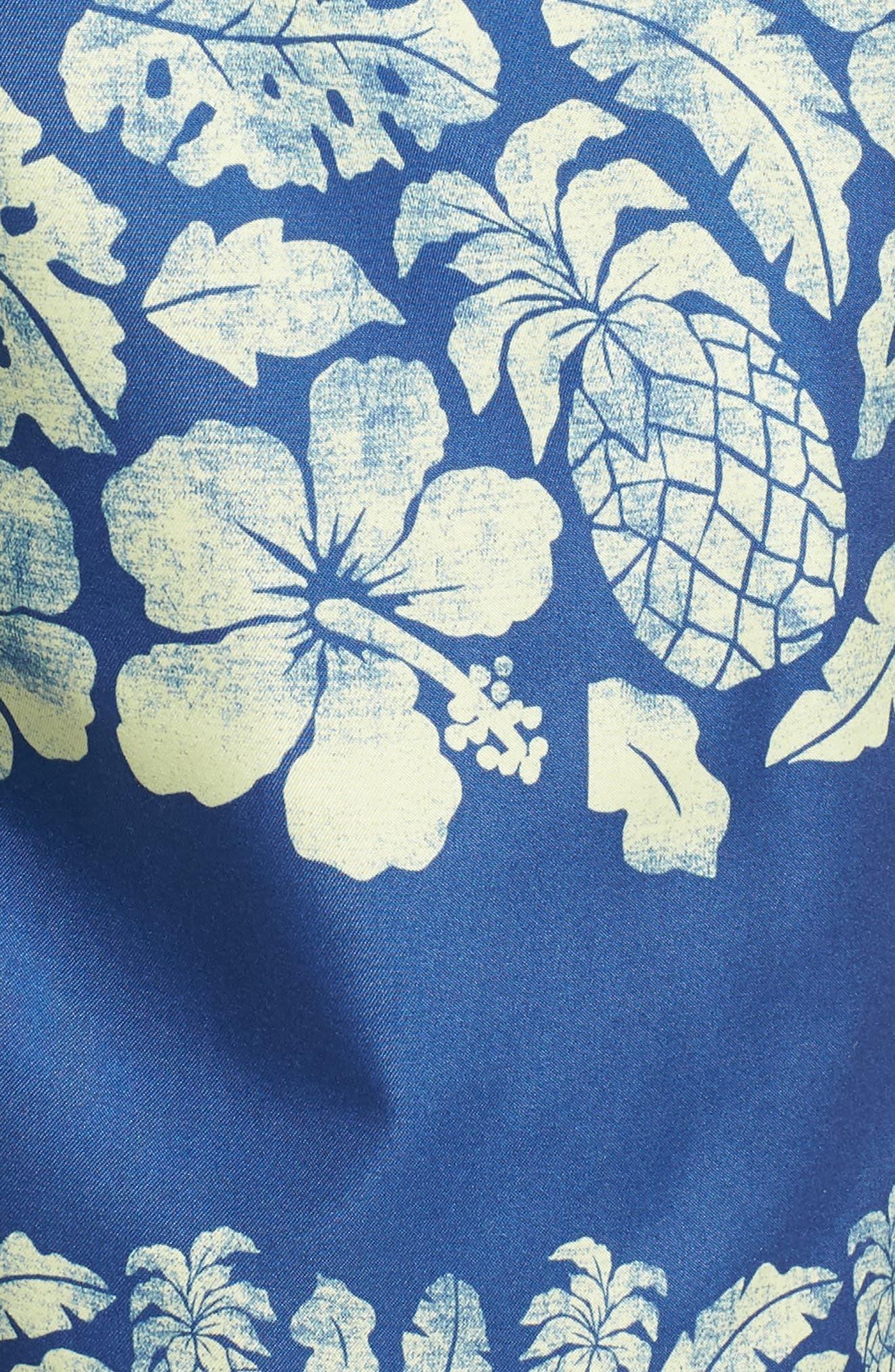 Placement Print Sano Swim Shorts,                             Alternate thumbnail 5, color,                             PINEAPPLE BORDER