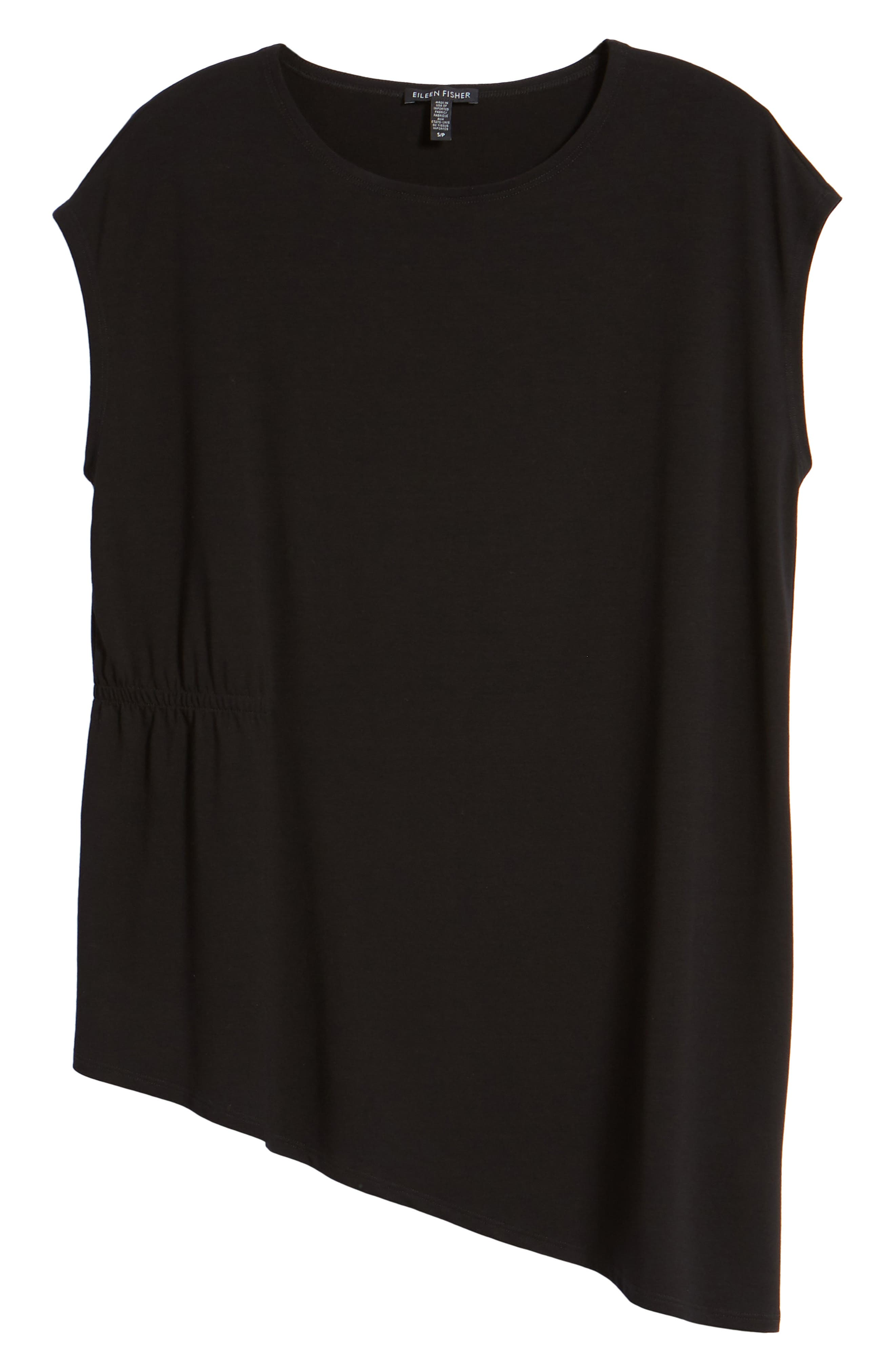 Asymmetrical Stretch Jersey Top,                             Alternate thumbnail 7, color,                             001