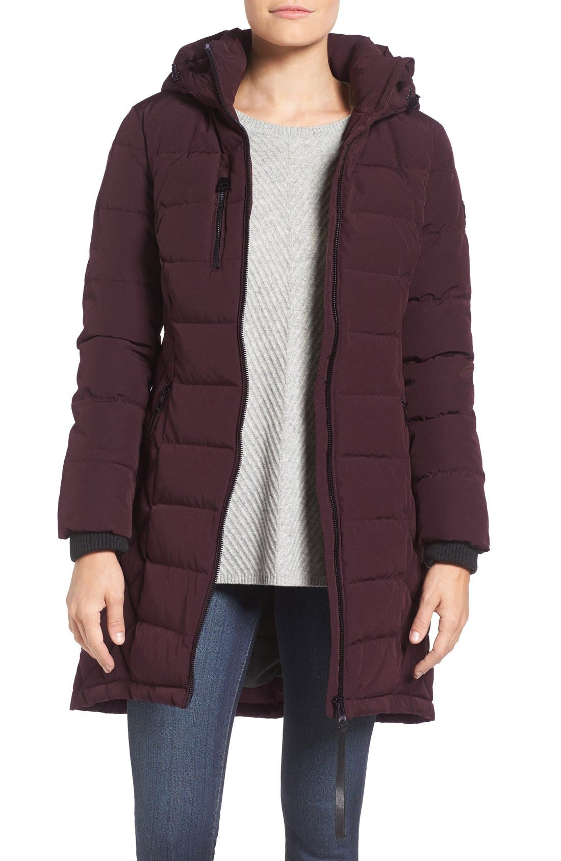 Quilted Hooded Puffer Coat,                             Main thumbnail 3, color,