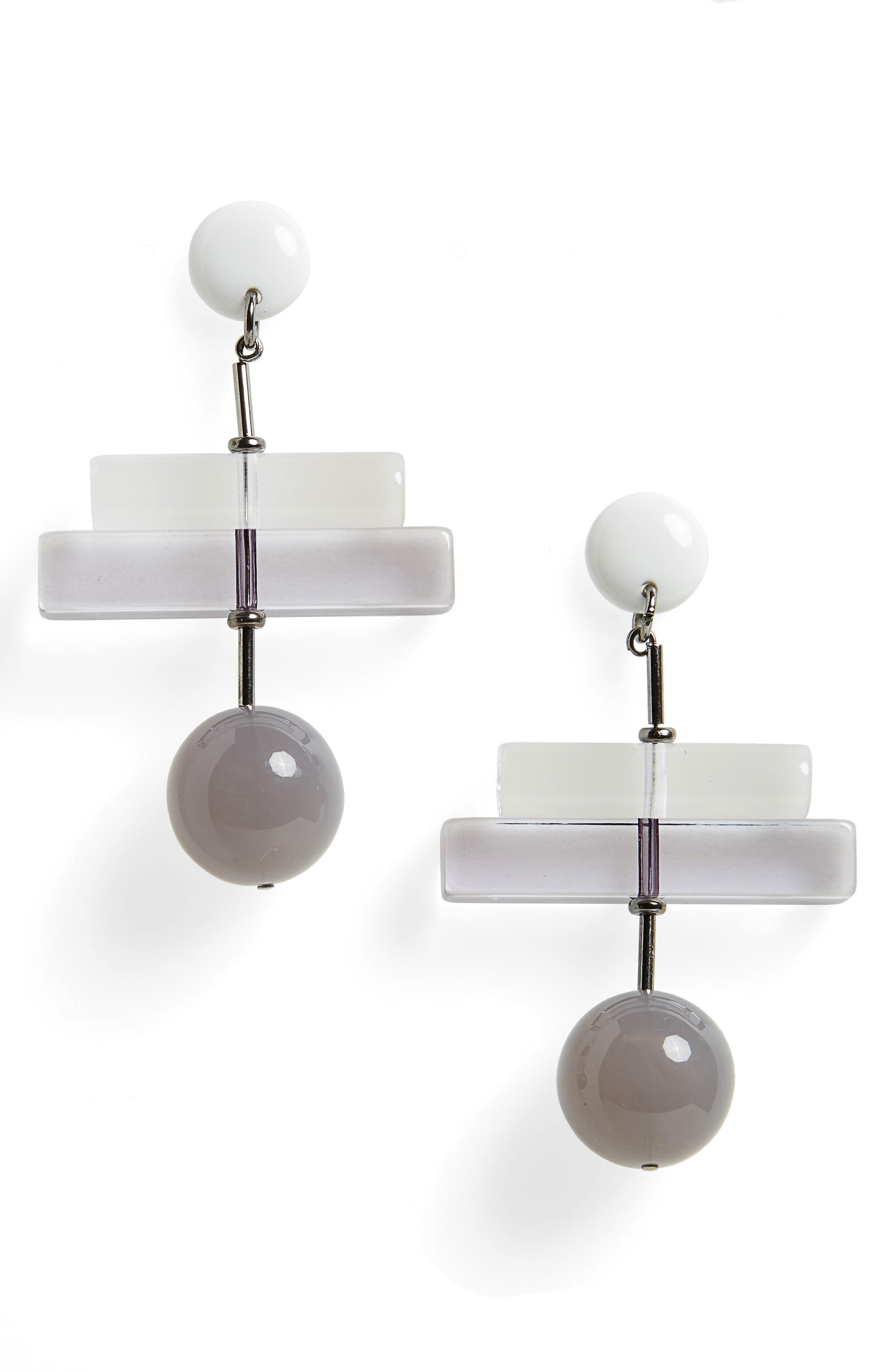 Orb Drop Earrings,                         Main,                         color, GREY
