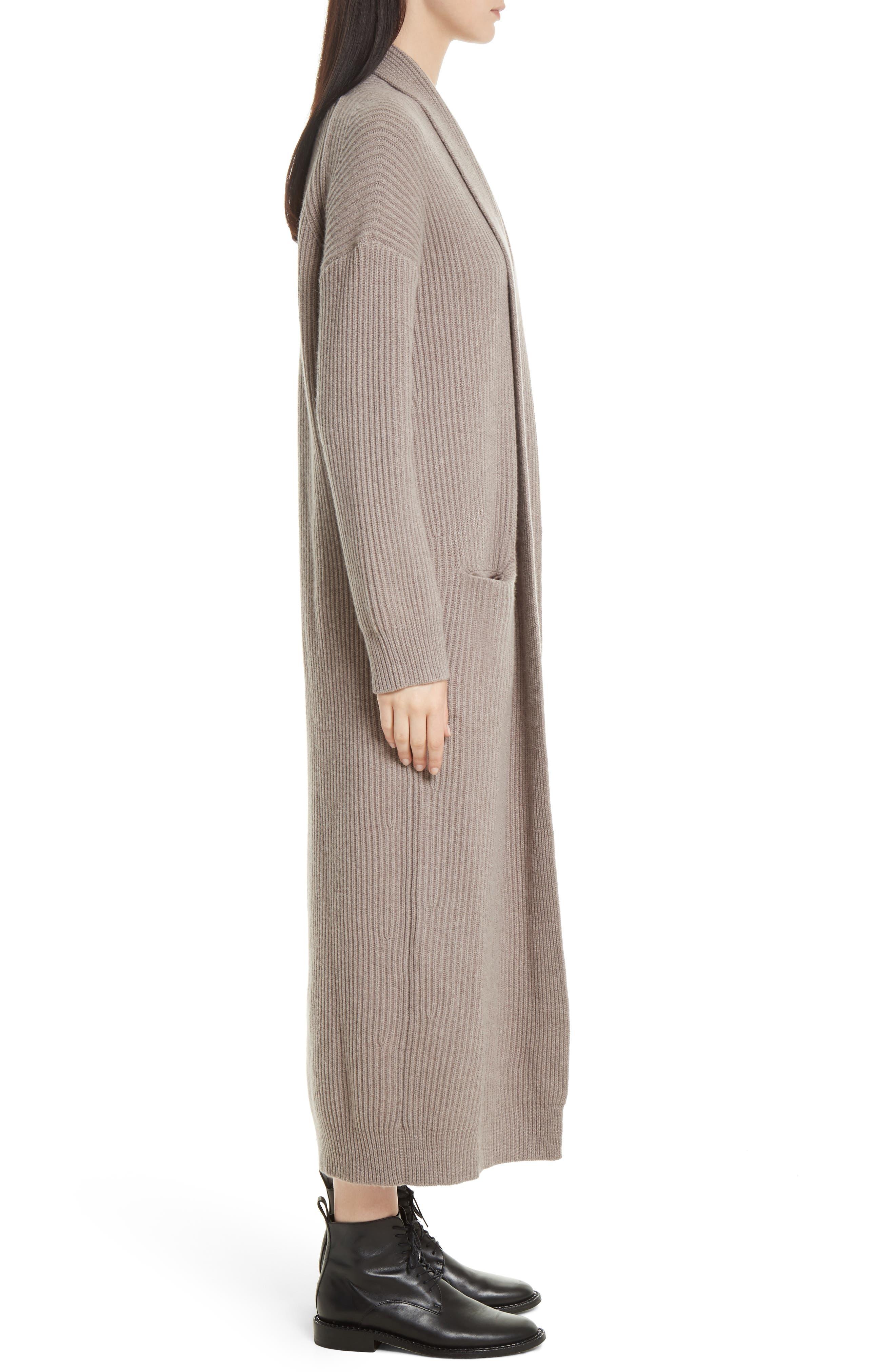 VINCE,                             Long Knit Sweater Robe,                             Alternate thumbnail 3, color,                             260