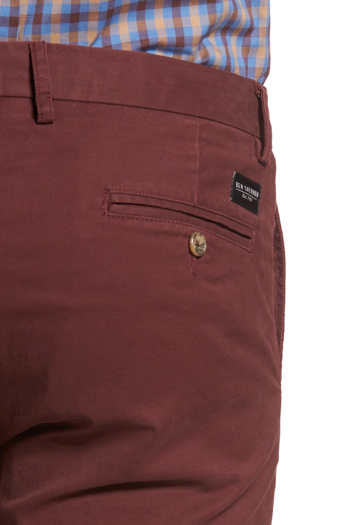 Slim Fit Stretch Chinos,                             Alternate thumbnail 61, color,