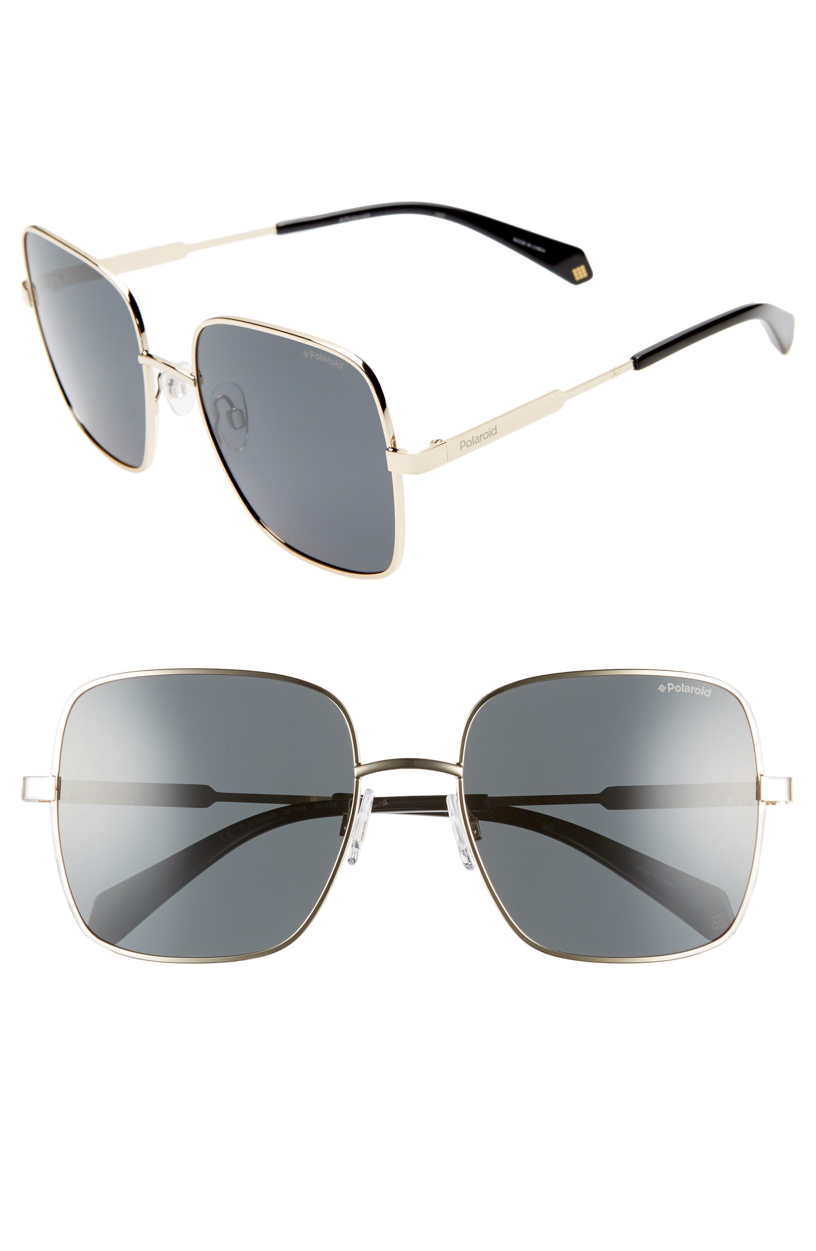 Polaroid 57Mm Polarized Square Sunglasses -