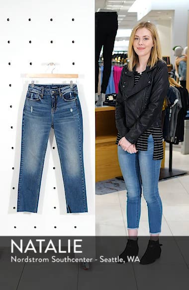 Stevie Straight Leg Crop Jeans, sales video thumbnail