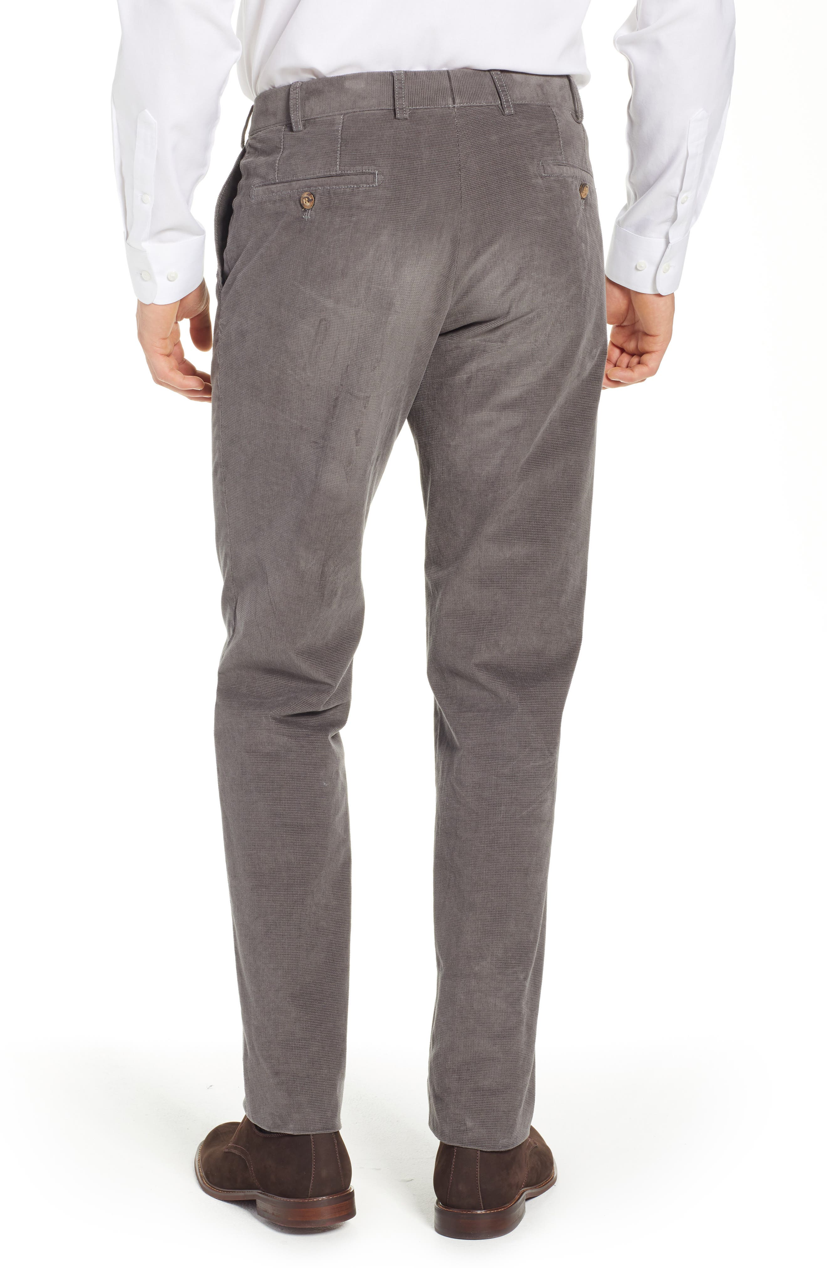 Pero Trim Fit Stretch Flat Front Trousers,                             Alternate thumbnail 2, color,                             TAUPE