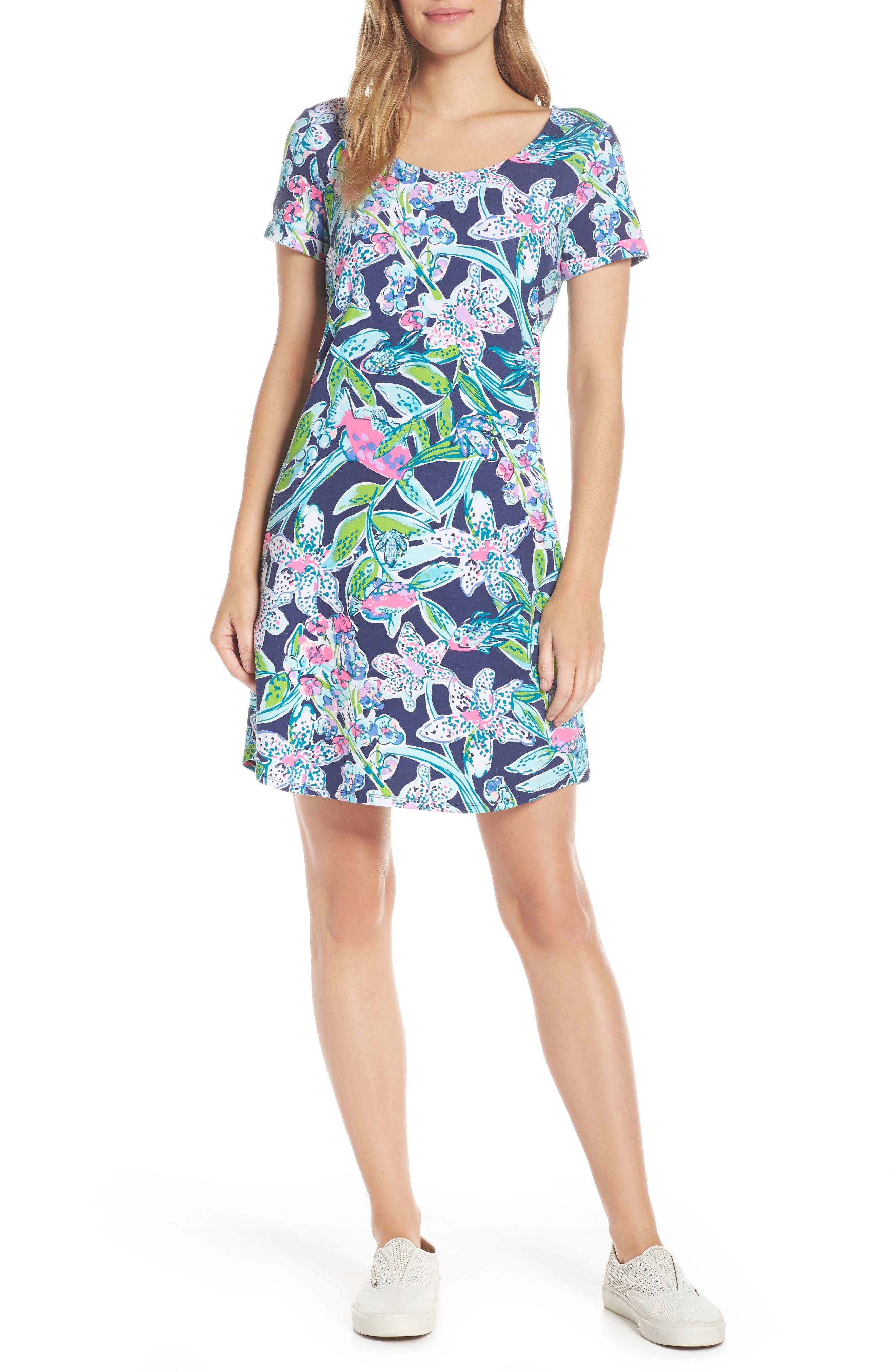 Lilly Pulitzer Tammy Floral Upf 50+ Dress, Blue