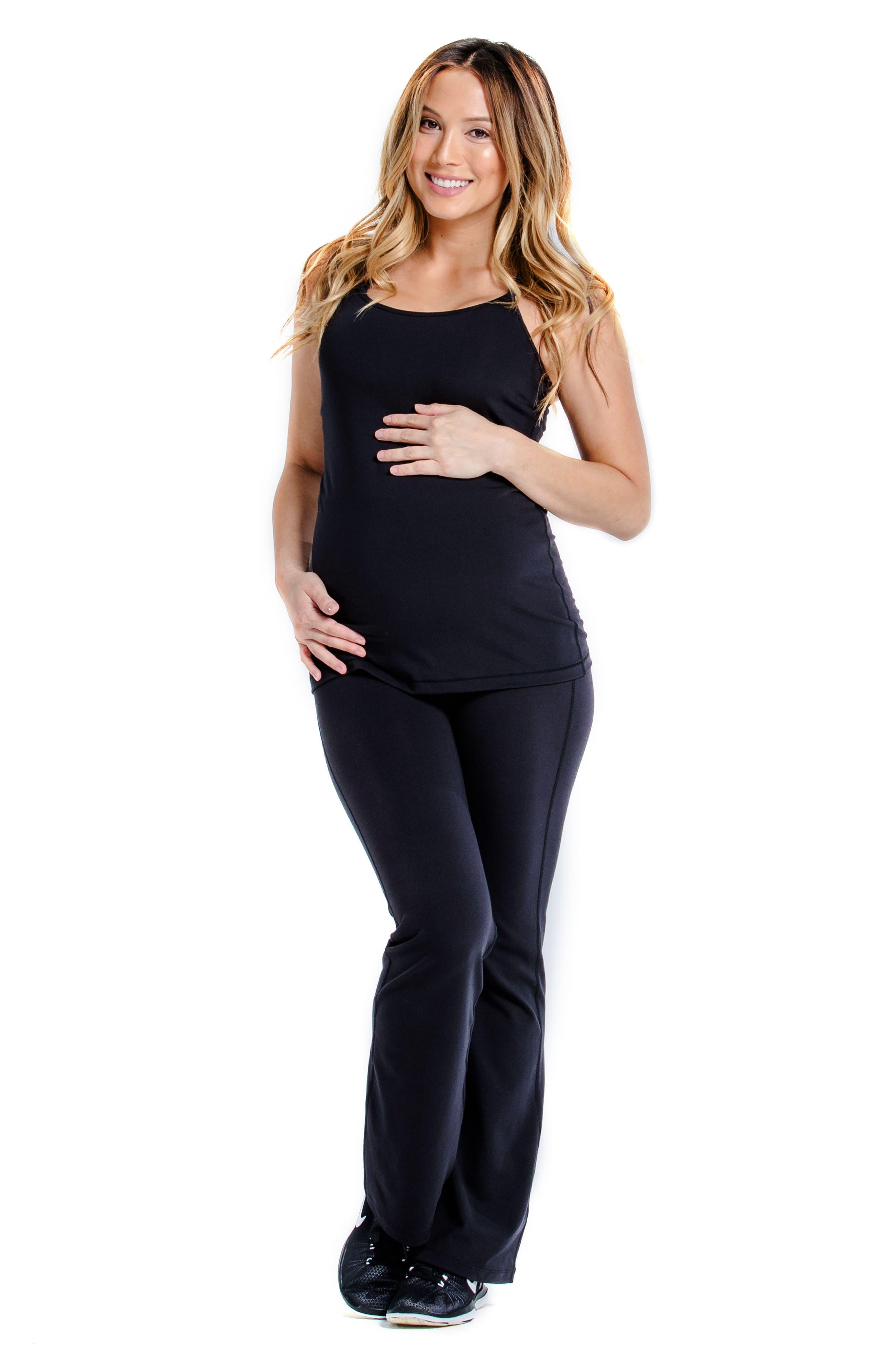 Spell UPF 50+ Maternity Tank Top,                             Alternate thumbnail 4, color,                             RAVEN BLACK