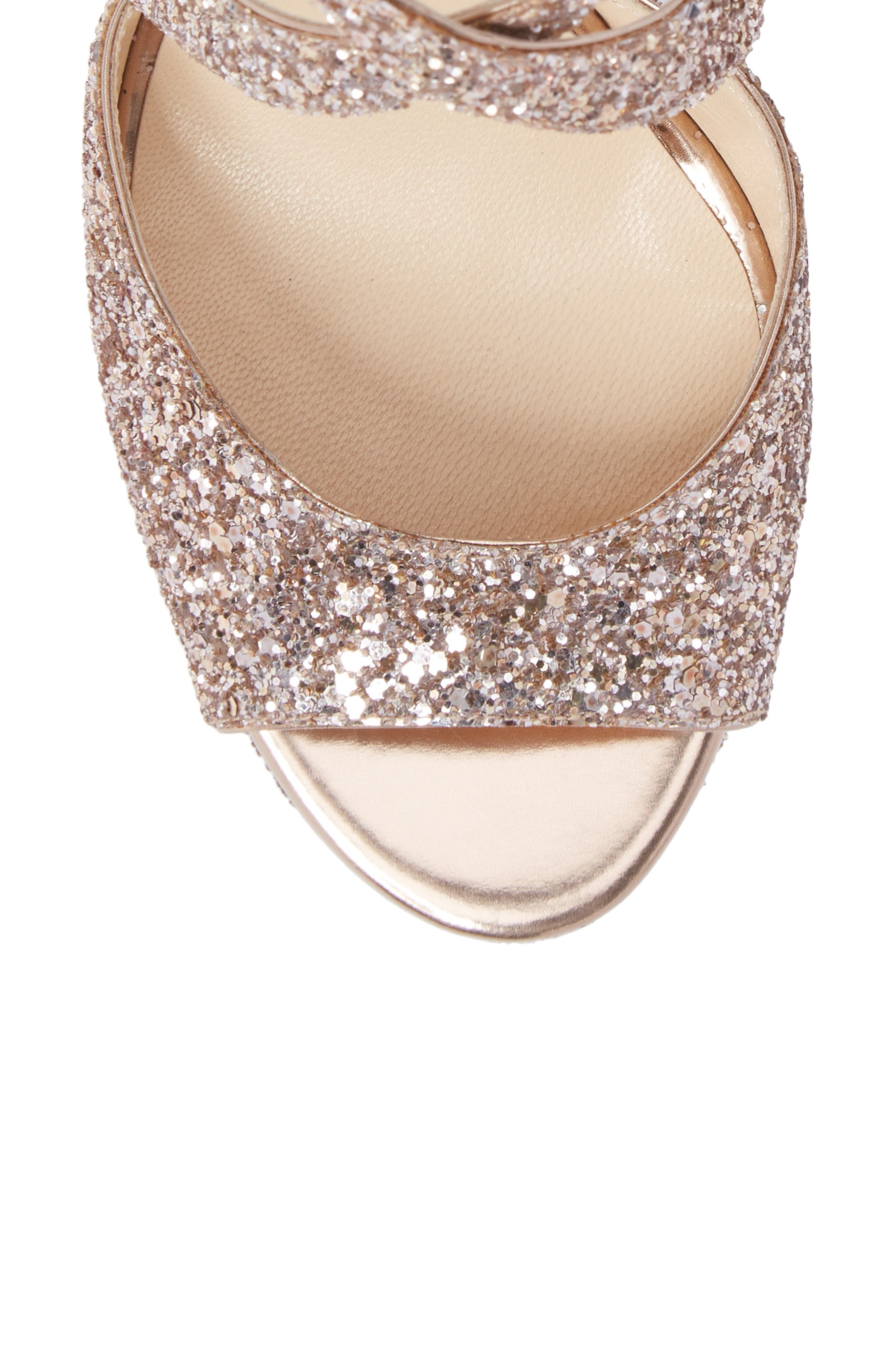 April Glitter Platform Sandal,                             Alternate thumbnail 5, color,                             650