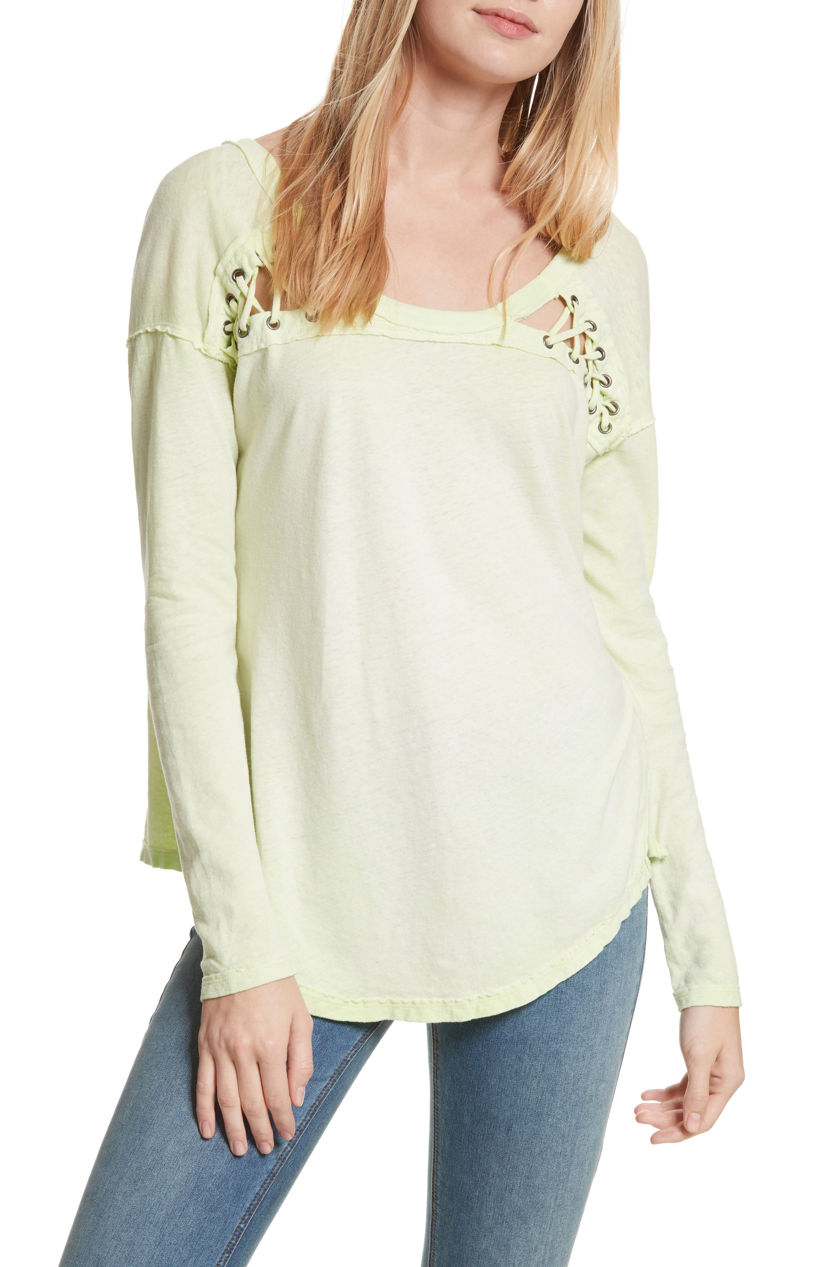 First Love Lace-Up Tee,                             Main thumbnail 3, color,