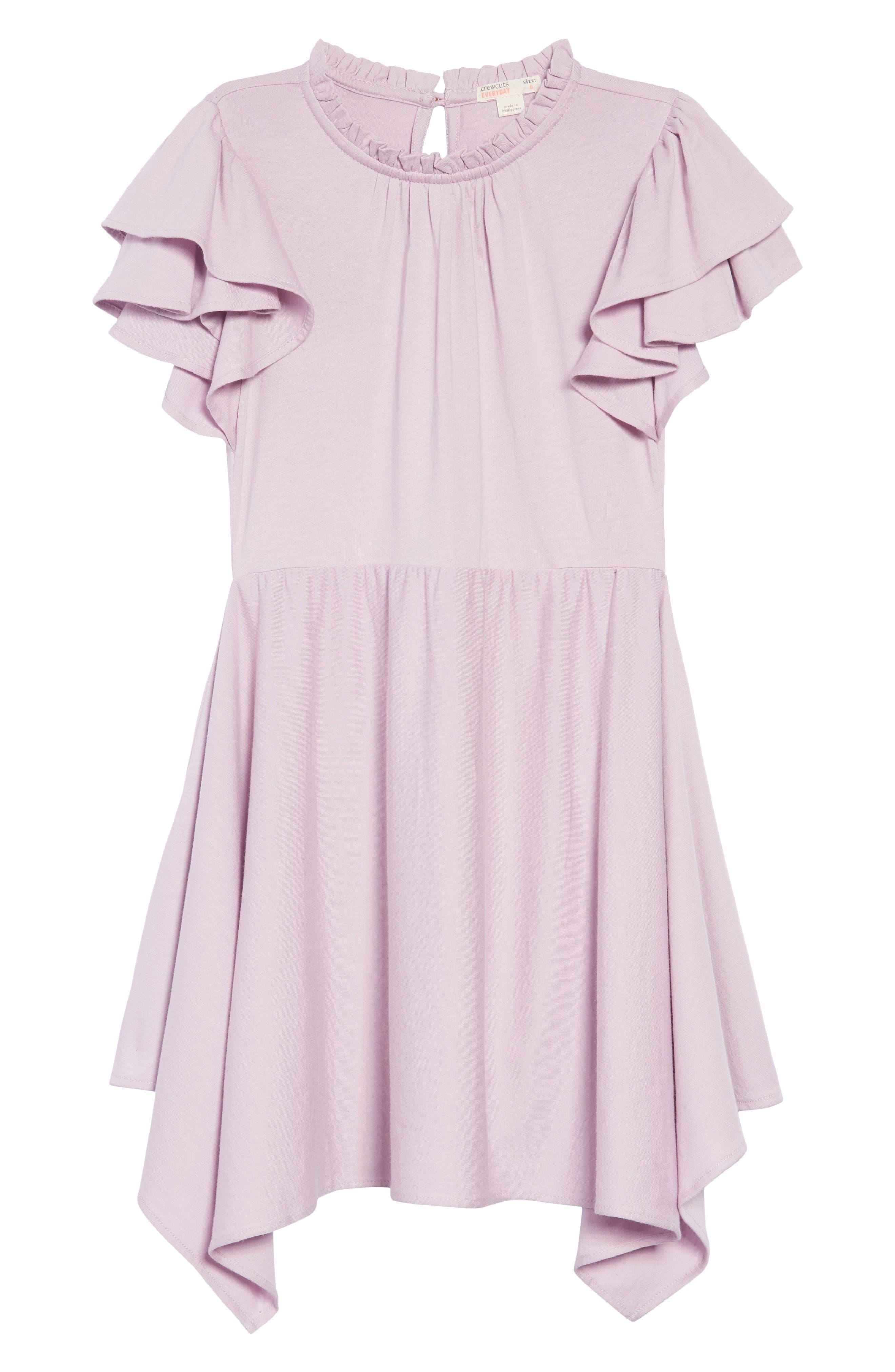Flutter Sleeve Dress,                             Main thumbnail 1, color,                             SMOKY WISTERIA