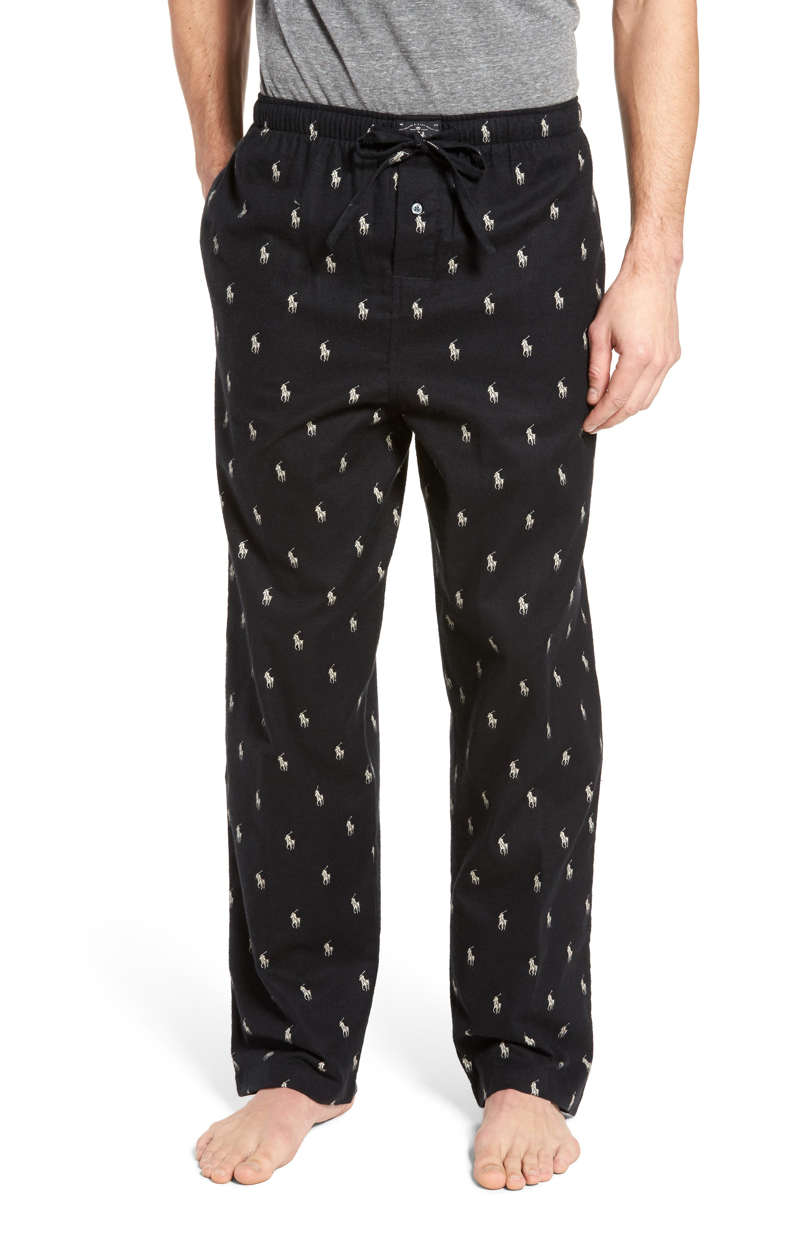 Brushed Flannel Pajama Pants,                         Main,                         color, 012