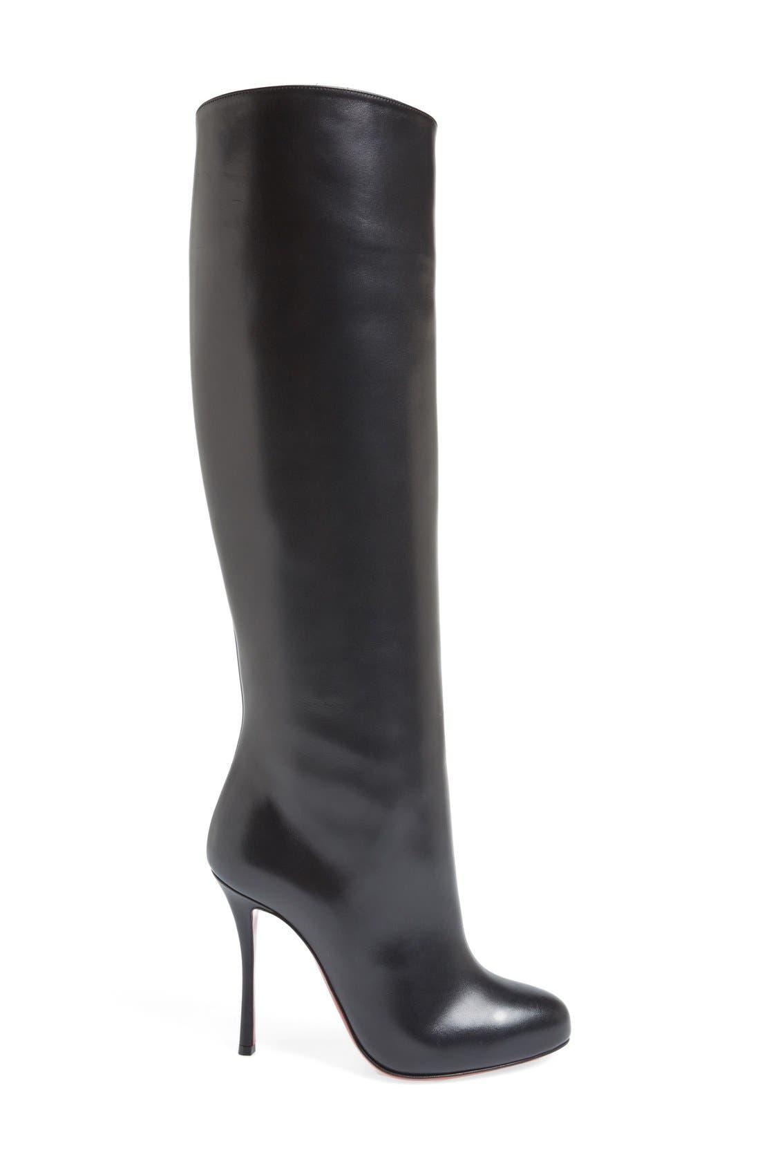 'Vitish' Knee High Boot,                             Alternate thumbnail 3, color,                             001
