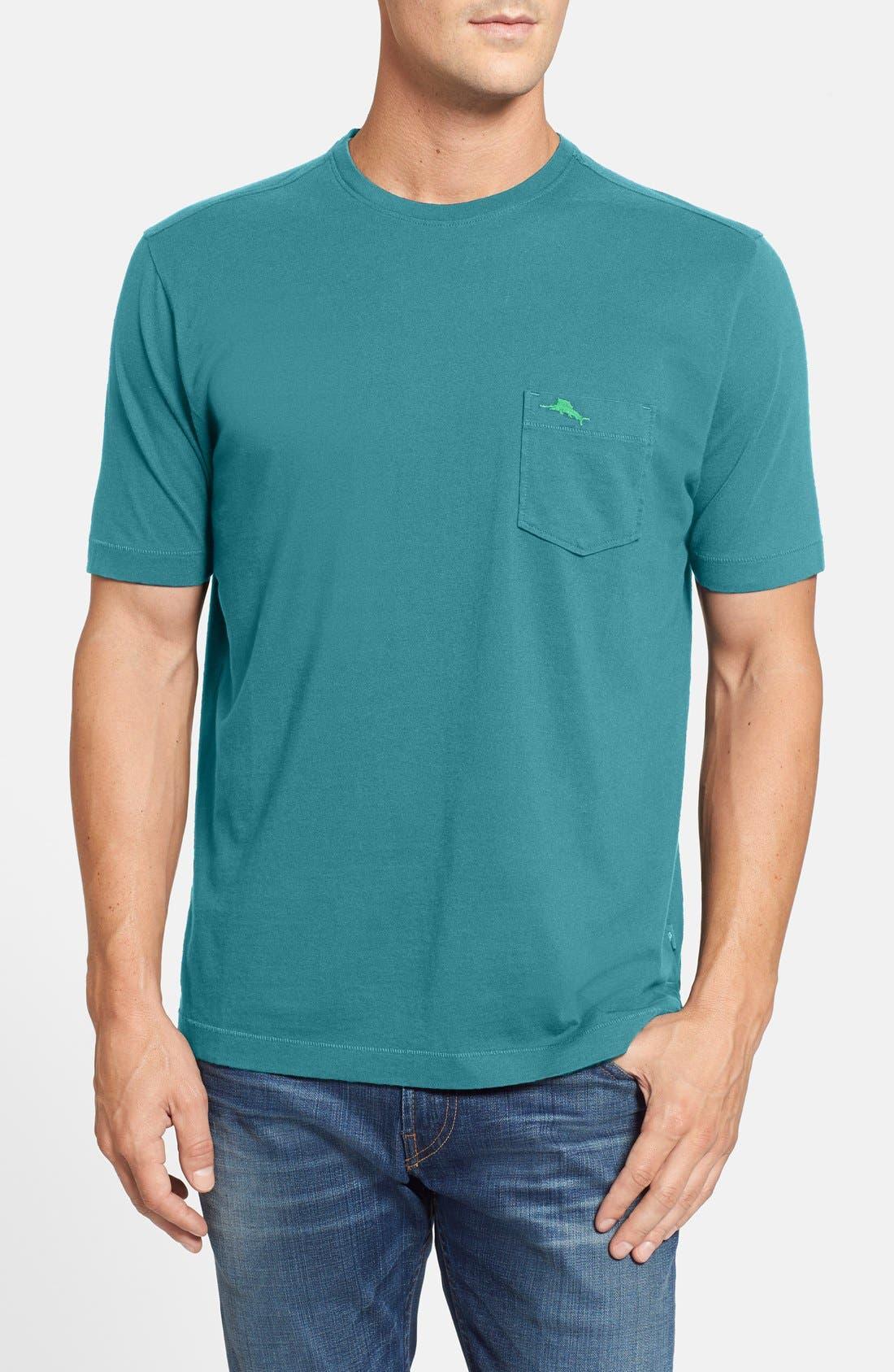 New Bali Sky Pima Cotton Pocket T-Shirt,                             Main thumbnail 21, color,
