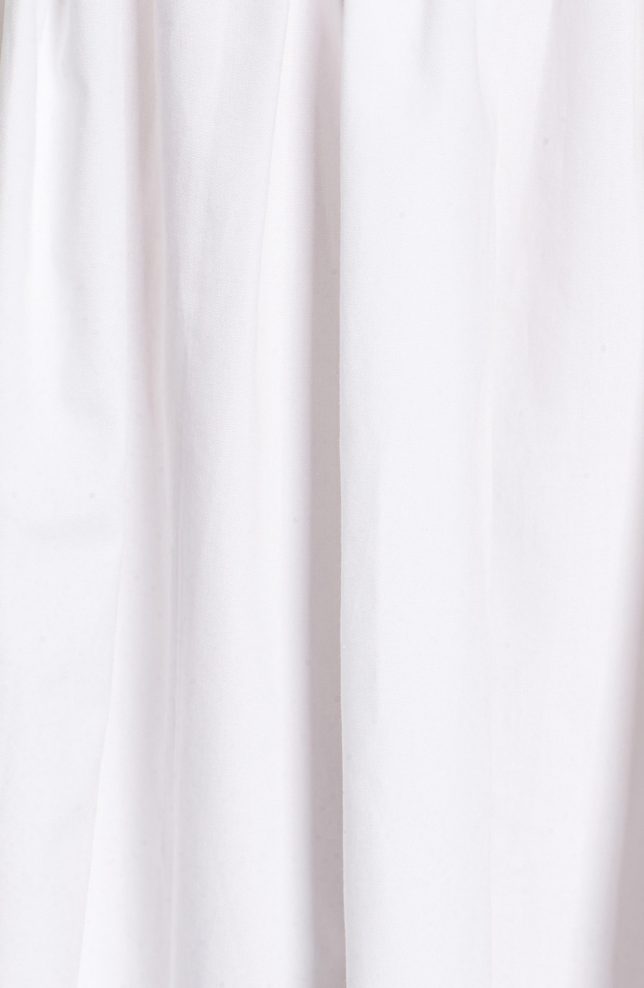 Ivy Cold Shoulder Top,                             Alternate thumbnail 5, color,                             WHITE COTTON