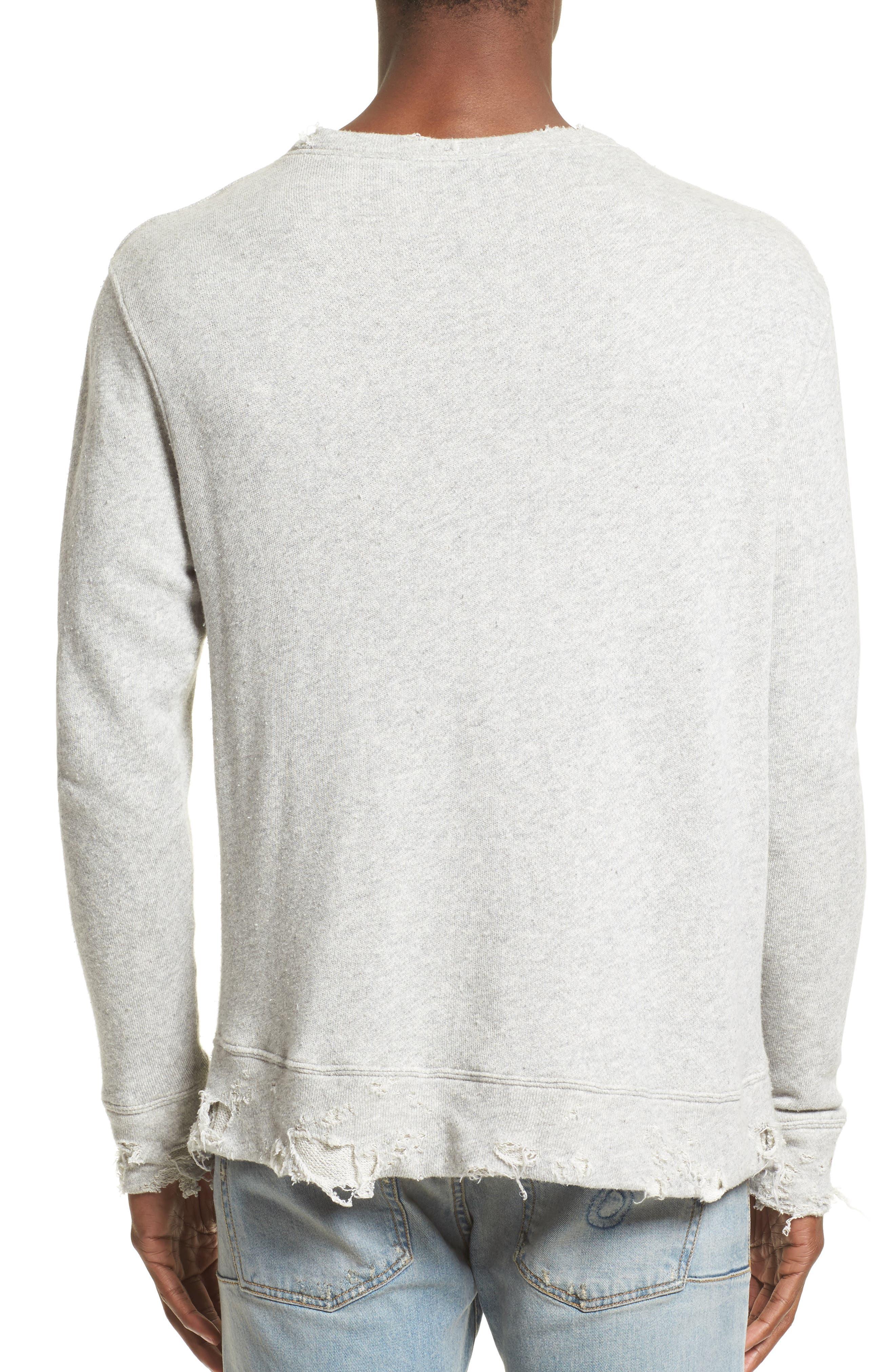 R13,                             Vintage Distressed Sweatshirt,                             Alternate thumbnail 2, color,                             071