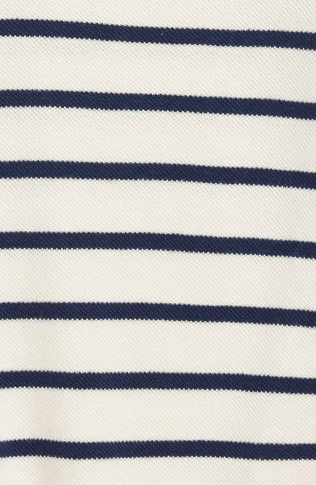 Stripe Piqué Polo,                             Alternate thumbnail 2, color,                             COLLEGE BLUE/ ECRU