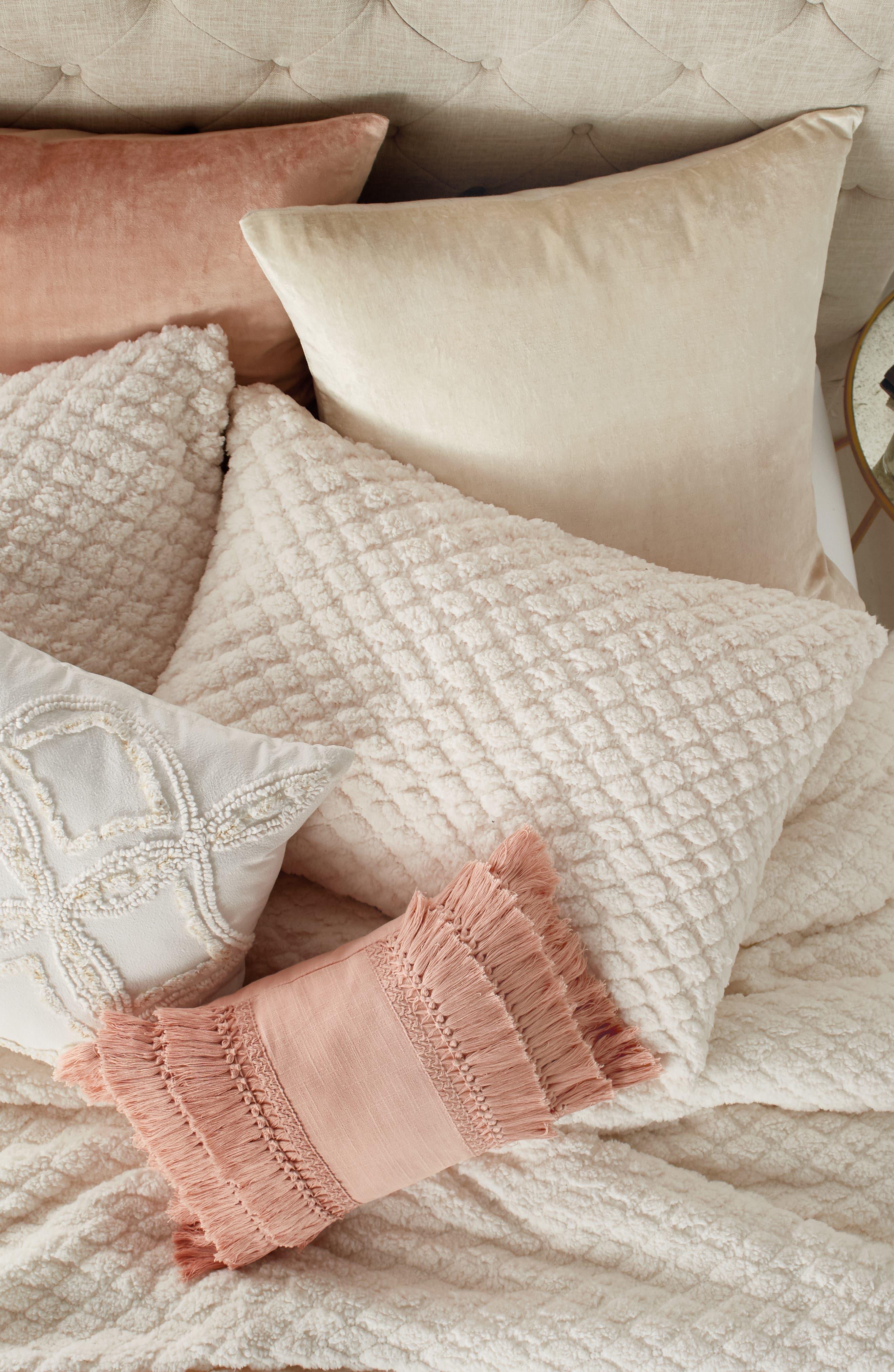 Diamond High Pile Fleece Comforter & Sham Set,                             Alternate thumbnail 4, color,                             902