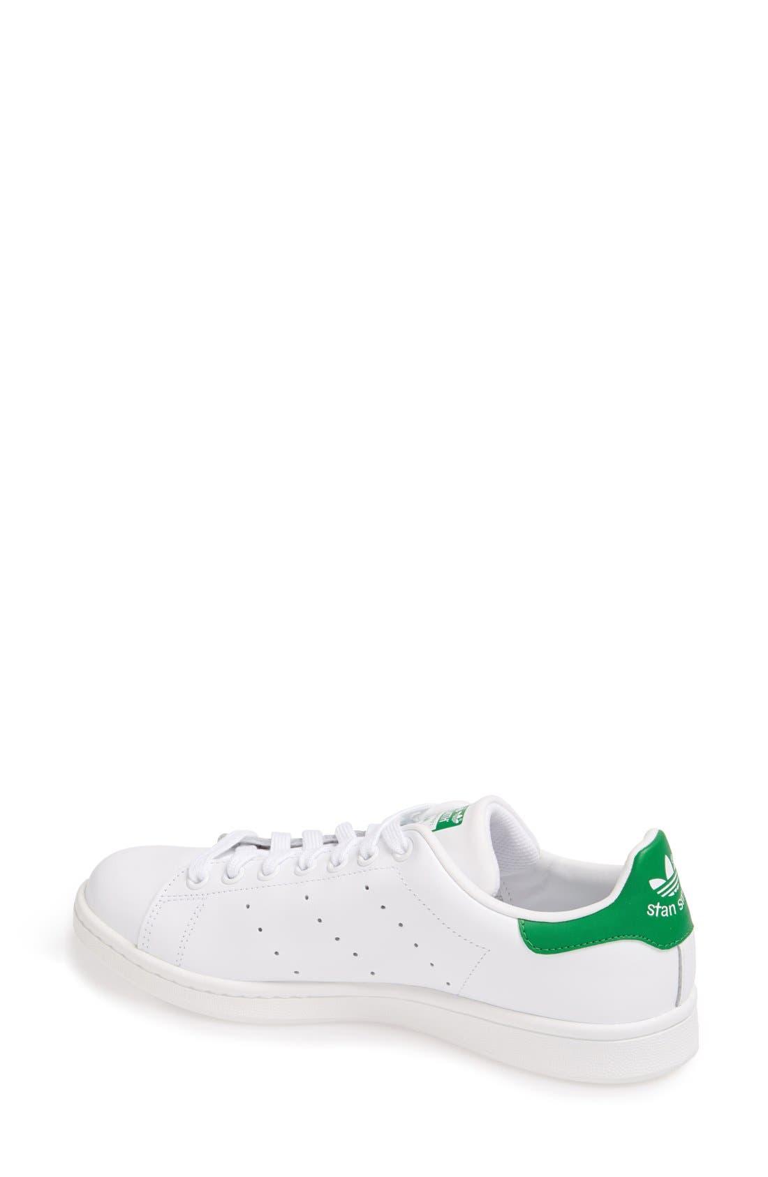 'Stan Smith' Sneaker,                             Alternate thumbnail 4, color,                             WHITE/ FAIRWAY