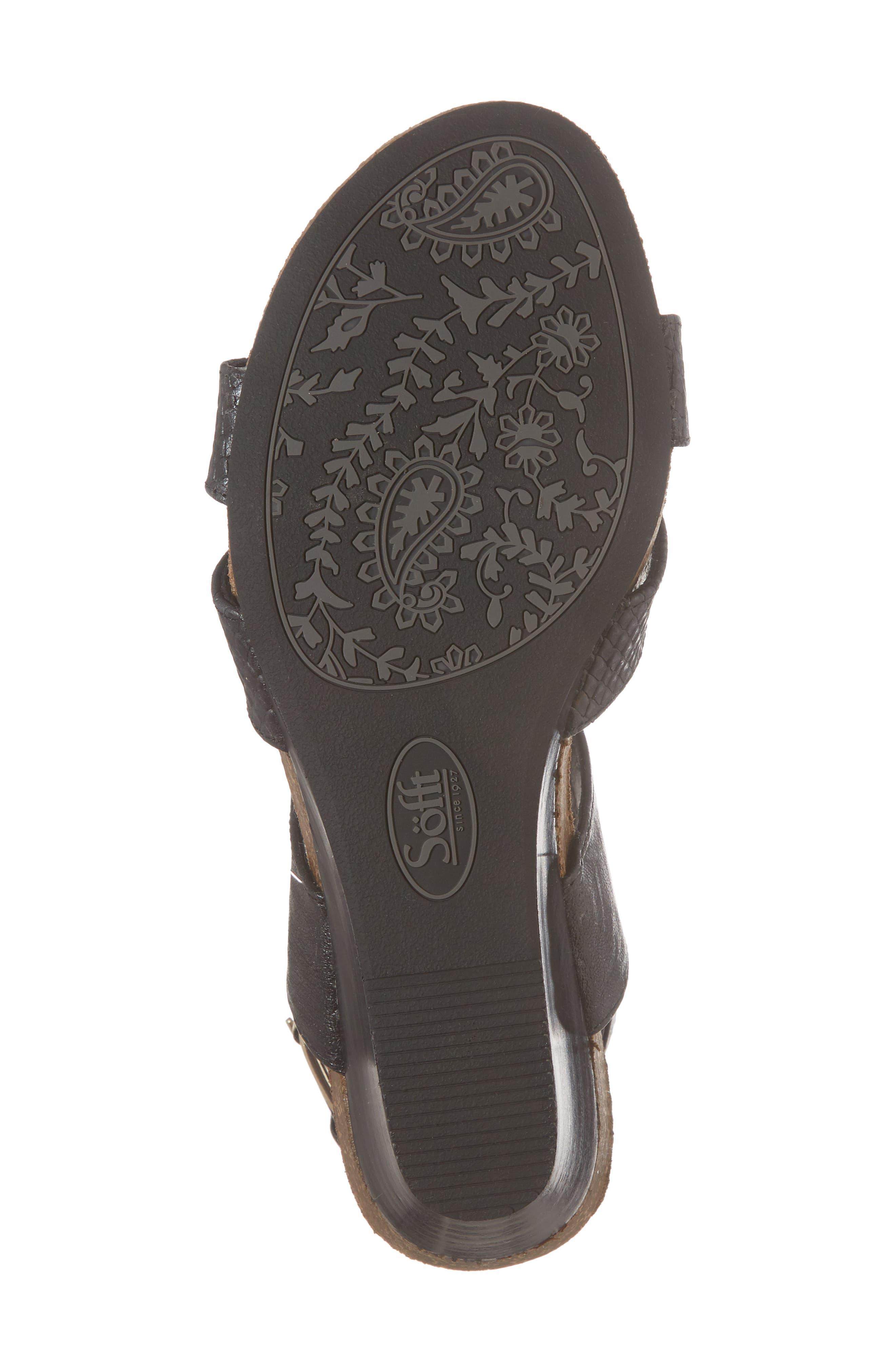 Velden Wedge Sandal,                             Alternate thumbnail 6, color,                             001