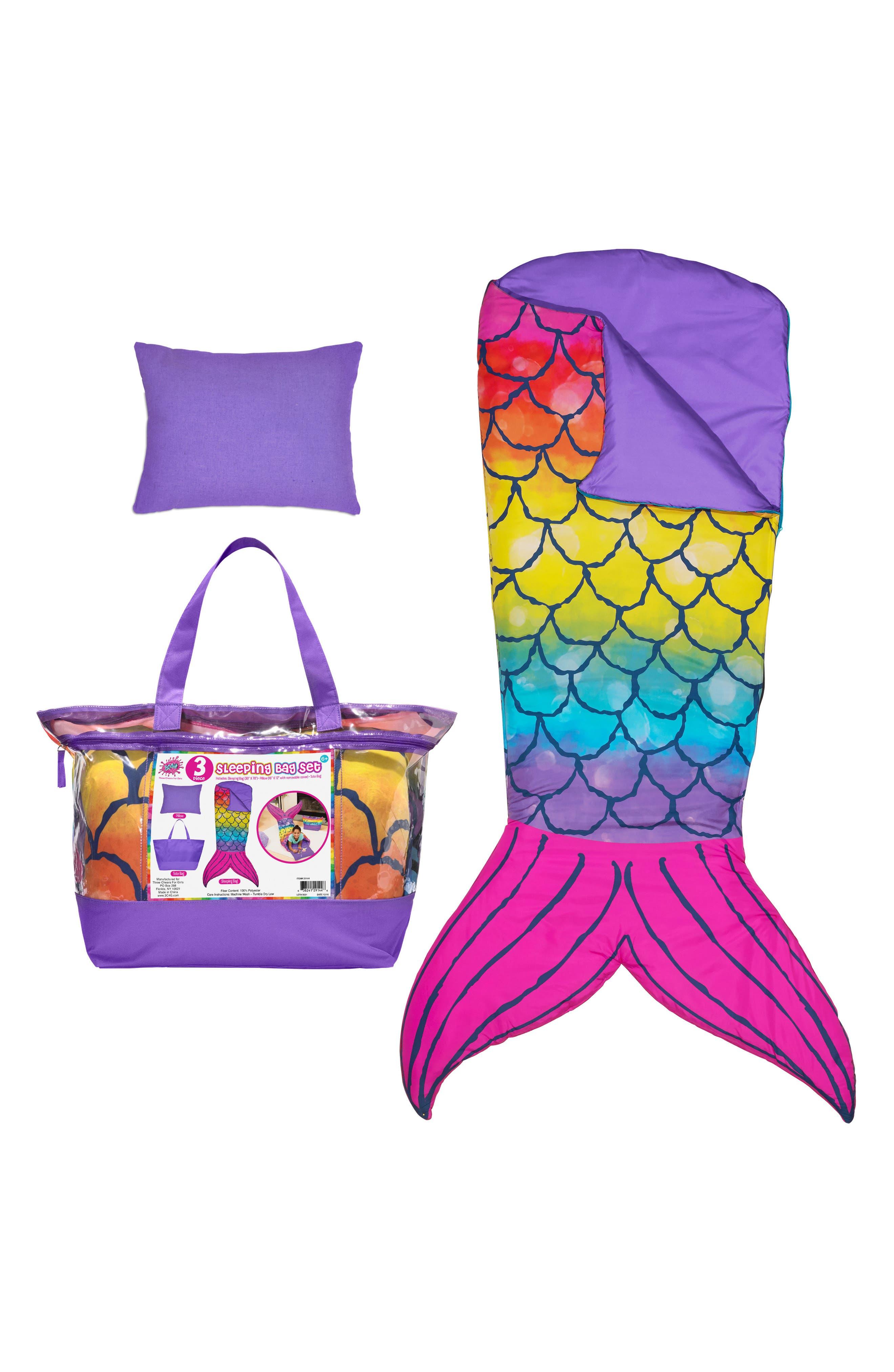 Mermaid Tail Sleeping Bag Set,                             Alternate thumbnail 2, color,                             MULTI