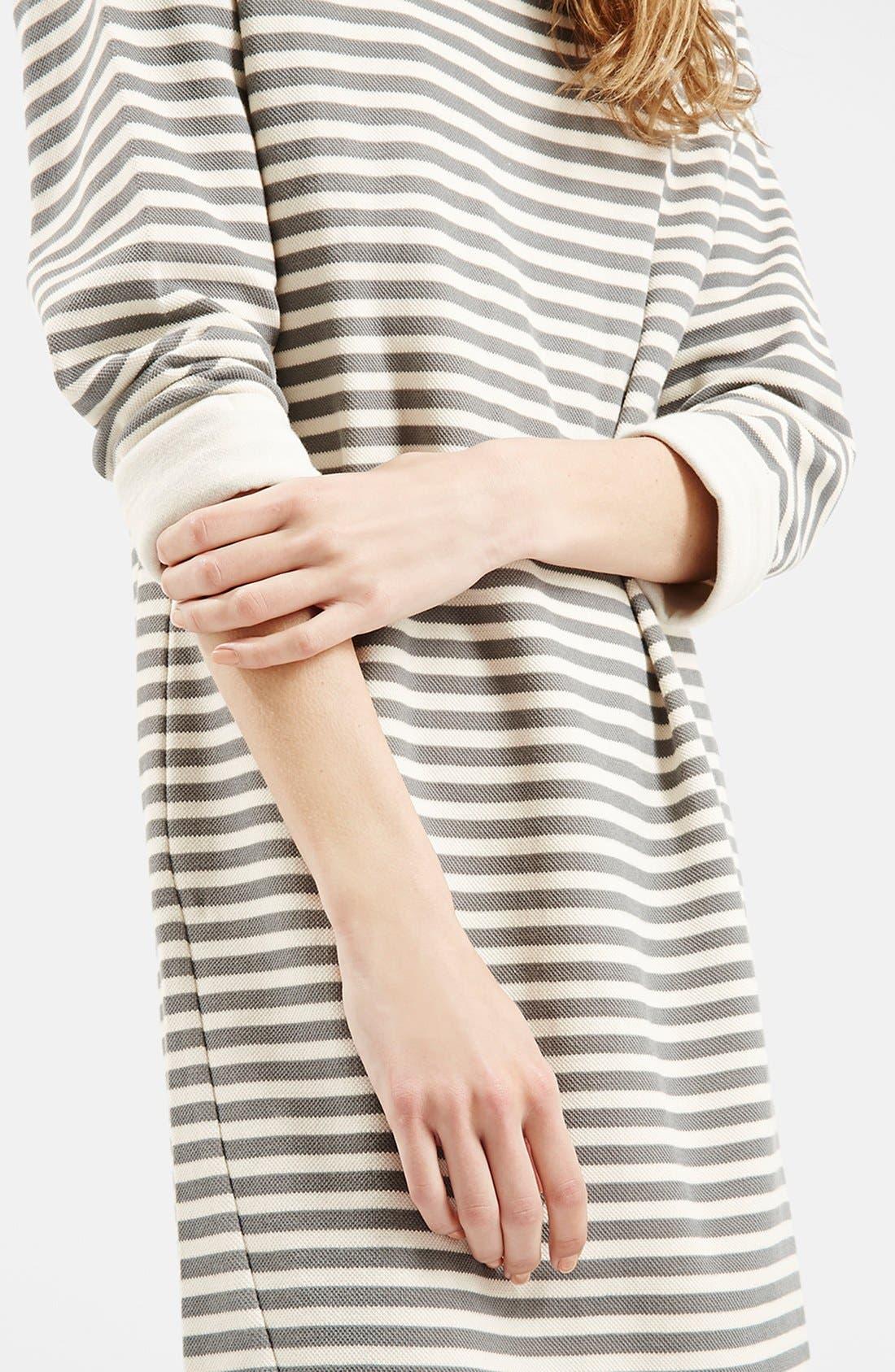 Stripe Sweater Dress,                             Alternate thumbnail 3, color,                             001