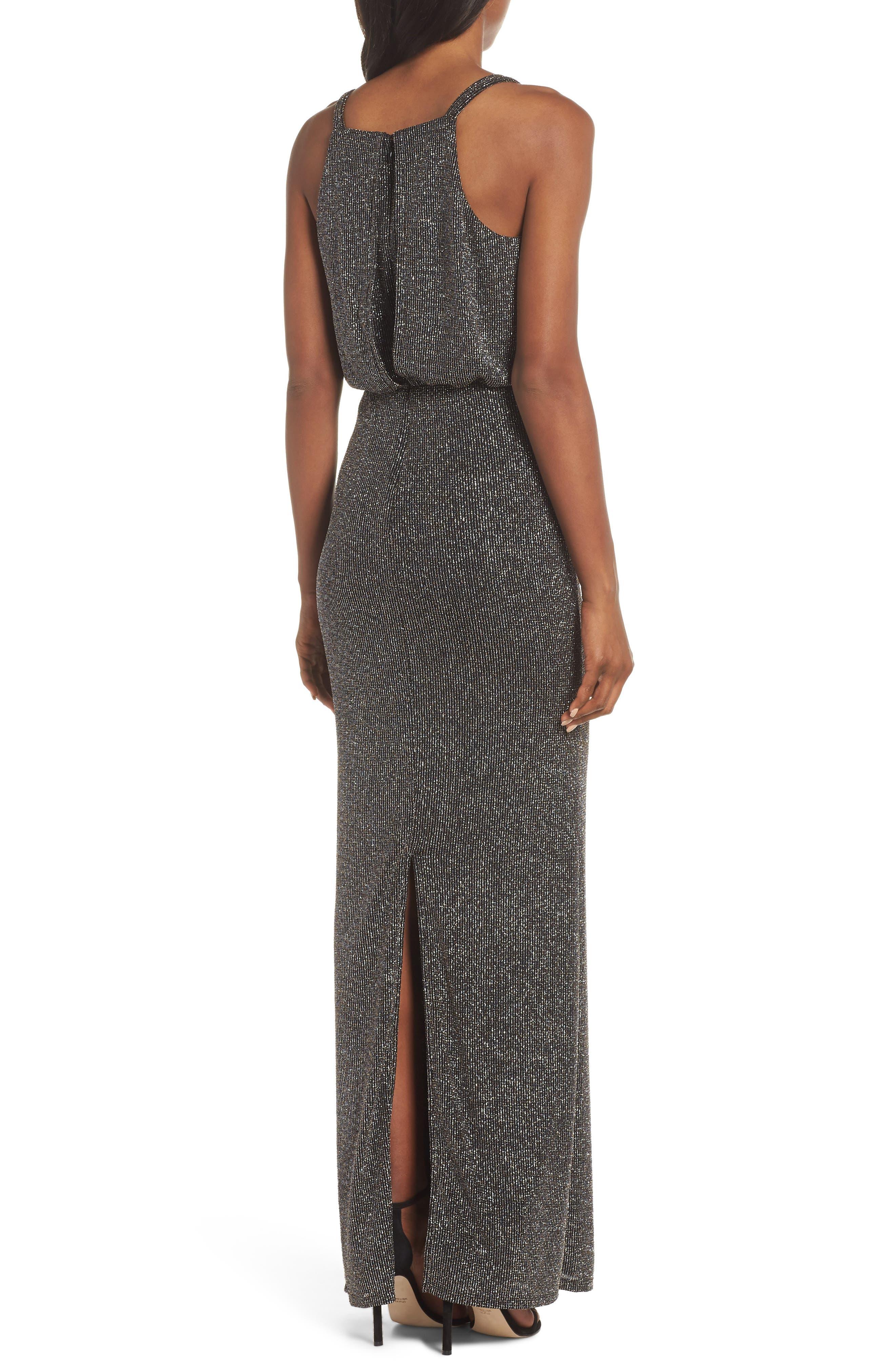 Blouson Gown,                             Alternate thumbnail 2, color,                             BLACK