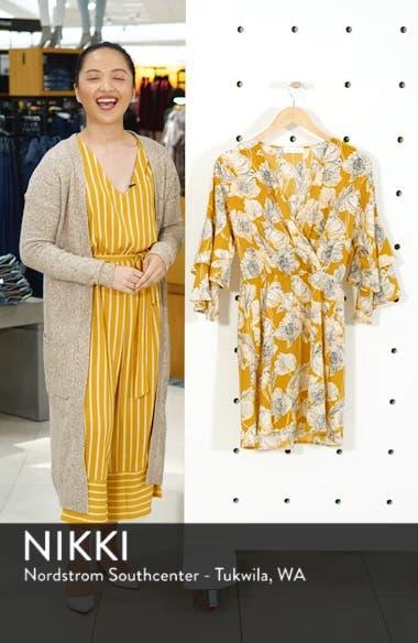 Printed Ruffle Sleeve Minidress, sales video thumbnail