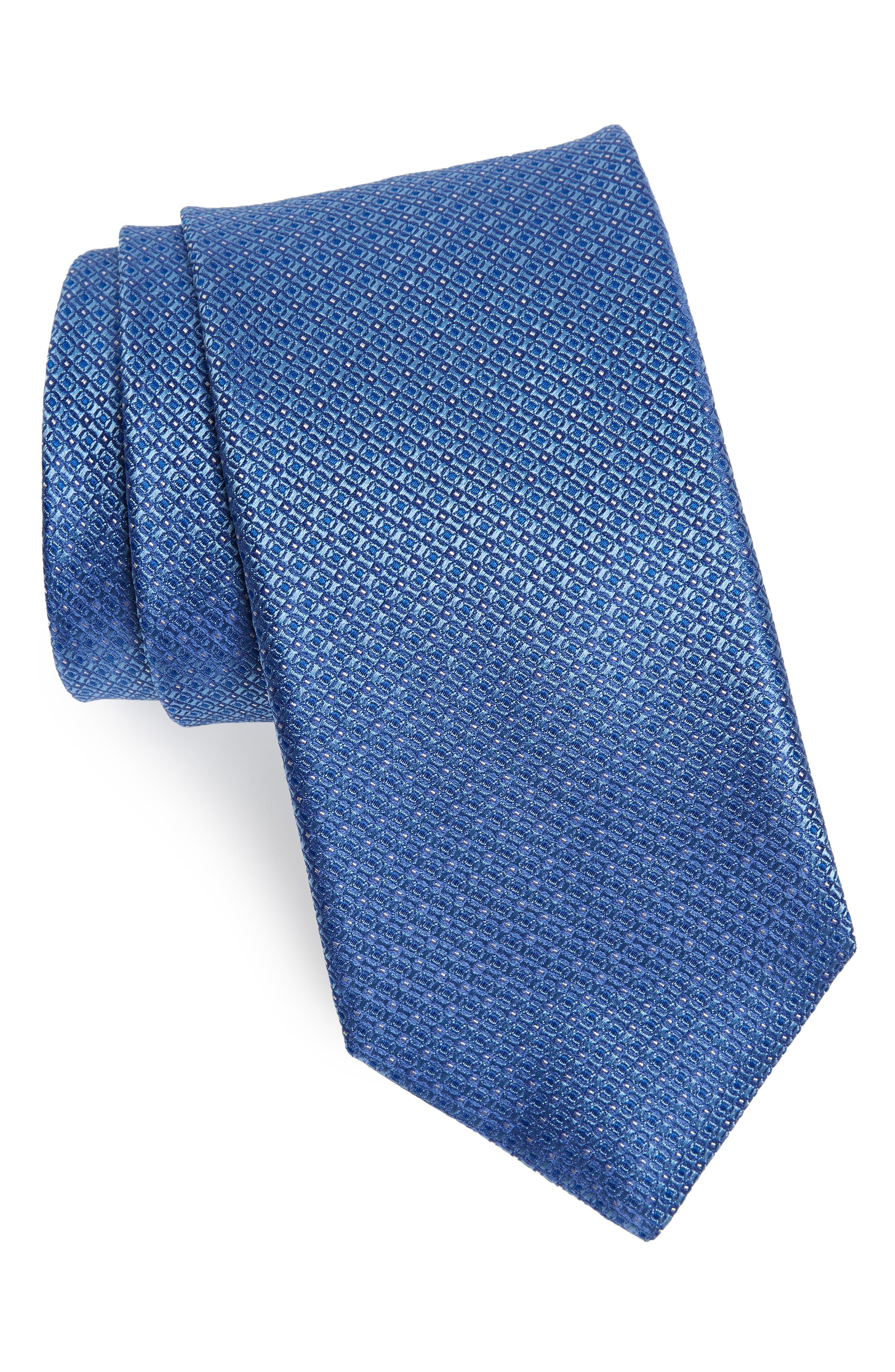 Neat Silk Tie,                             Main thumbnail 1, color,                             LIGHT BLUE