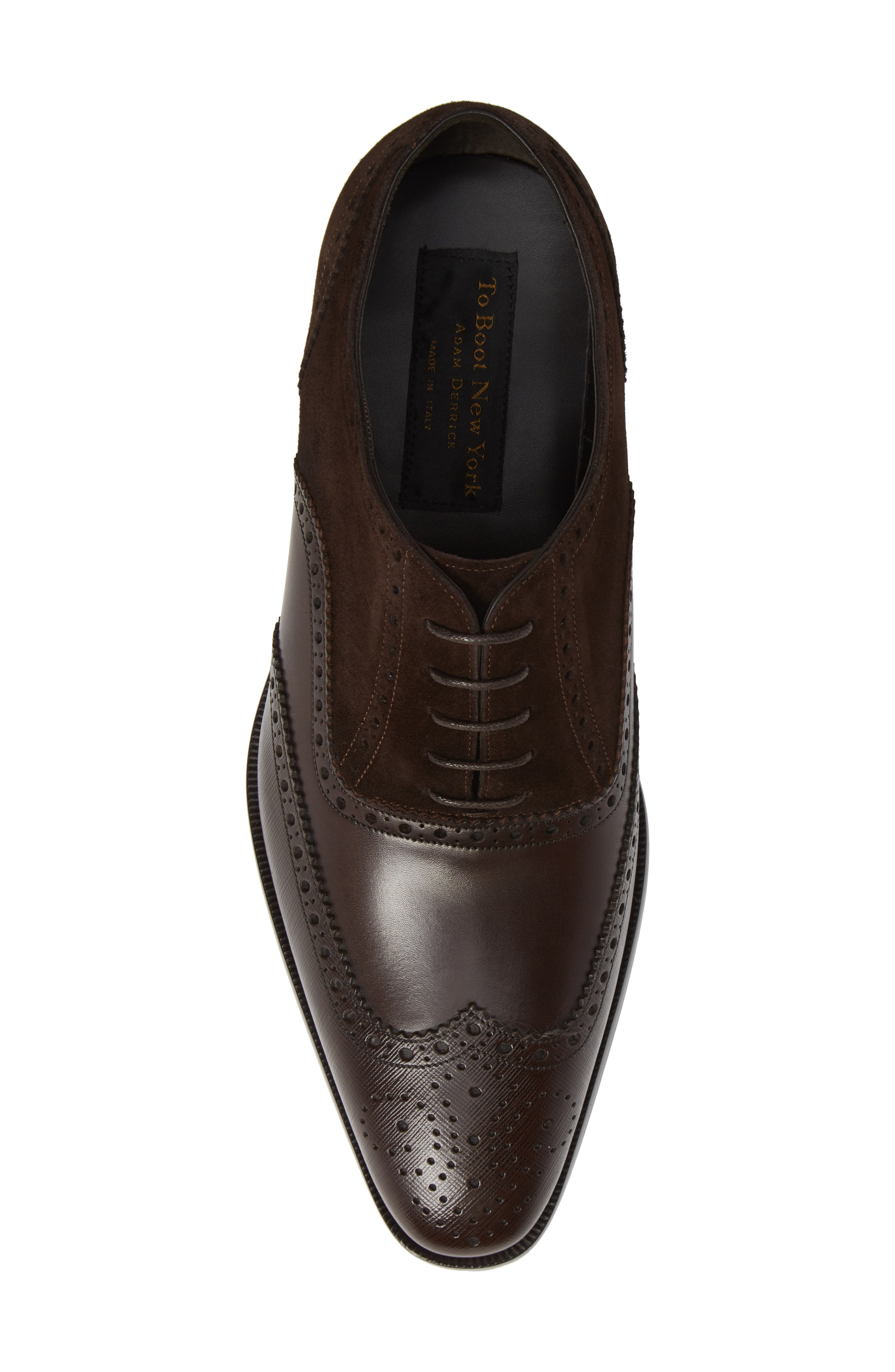 Cologne Wingtip,                             Alternate thumbnail 5, color,                             BROWN SUEDE/ LEATHER