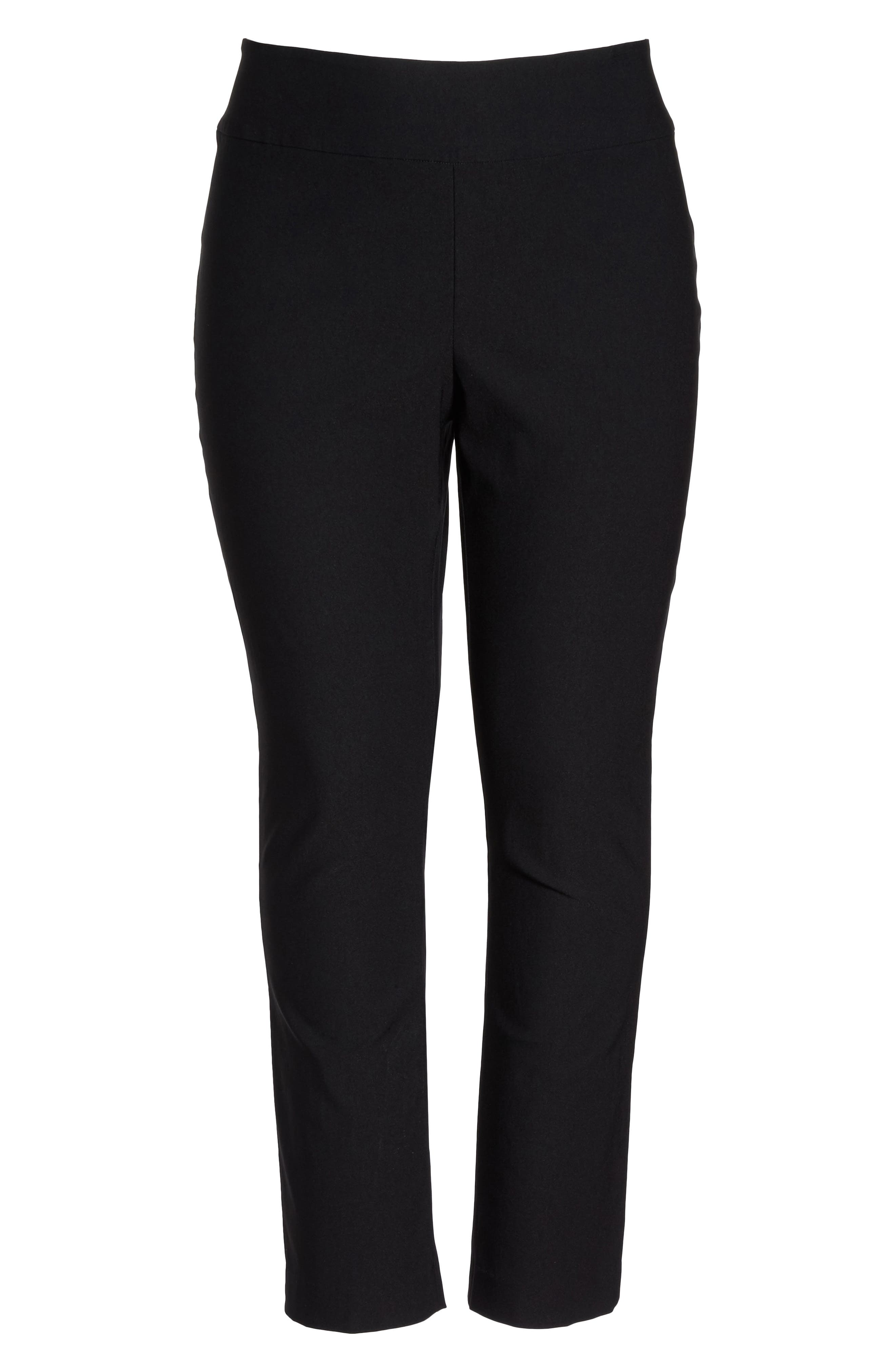 'Wonder Stretch' High Rise Straight Leg Pants,                             Main thumbnail 1, color,                             BLACK ONYX