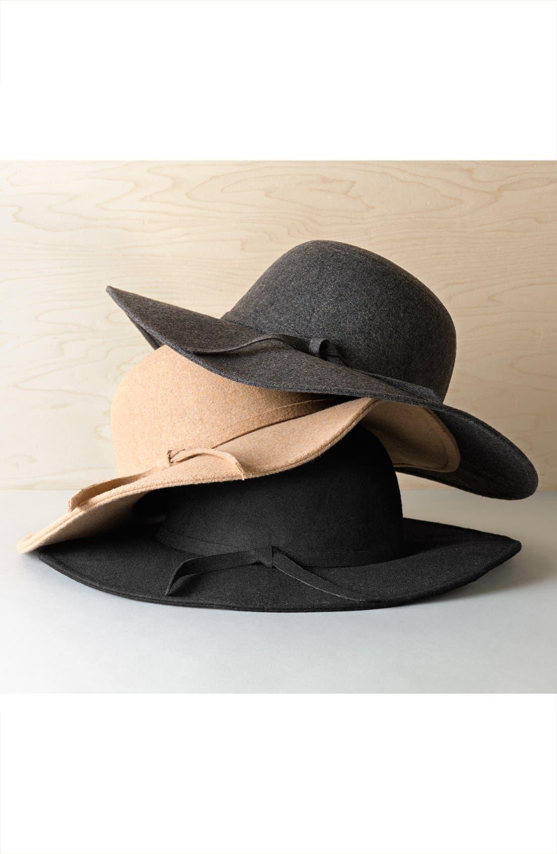 Floppy Felt Hat,                             Main thumbnail 1, color,