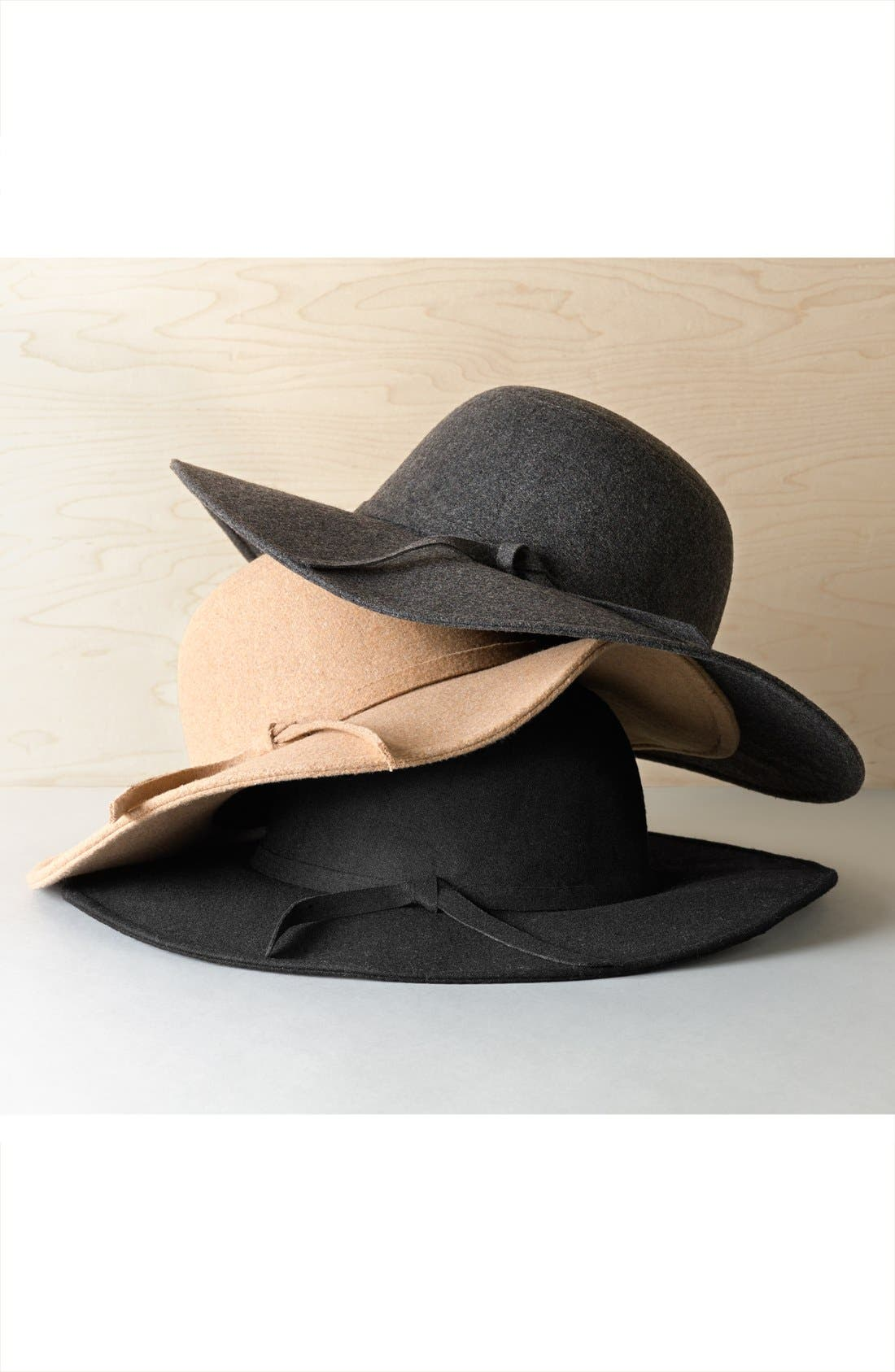Floppy Felt Hat,                         Main,                         color,
