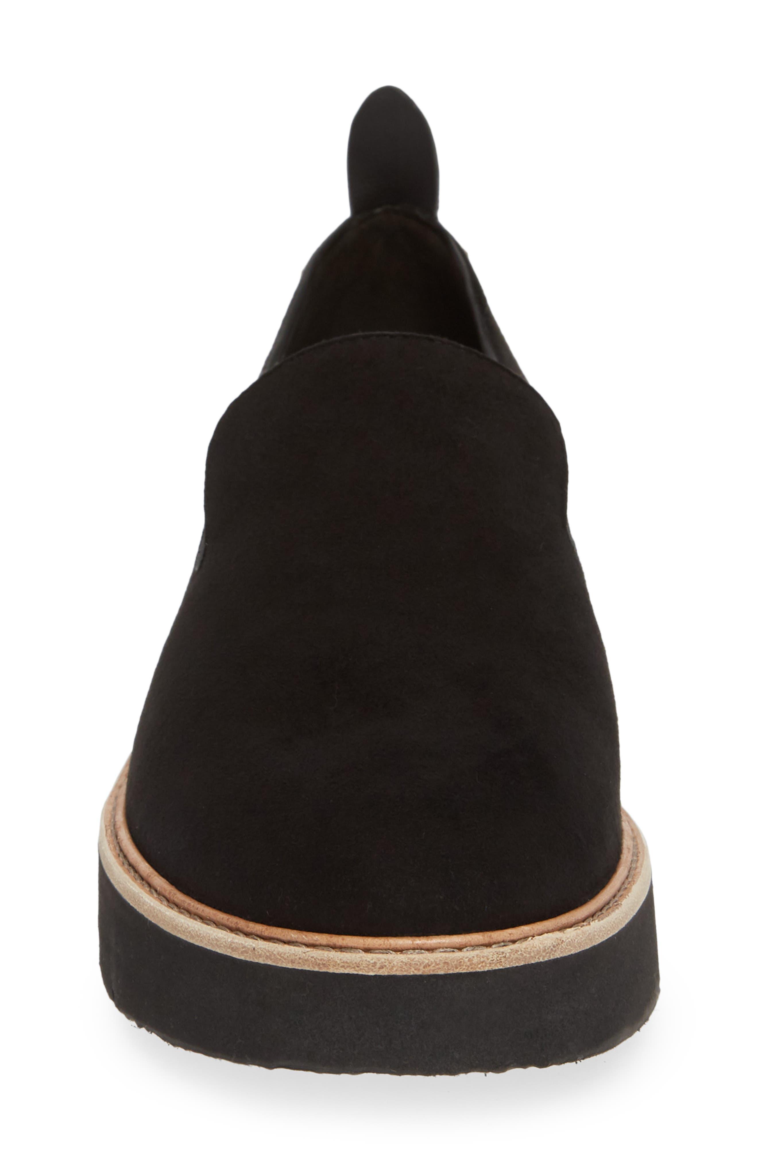 Sanders Slip-On Sneaker,                             Alternate thumbnail 4, color,                             BLACK/ BLACK LEATHER