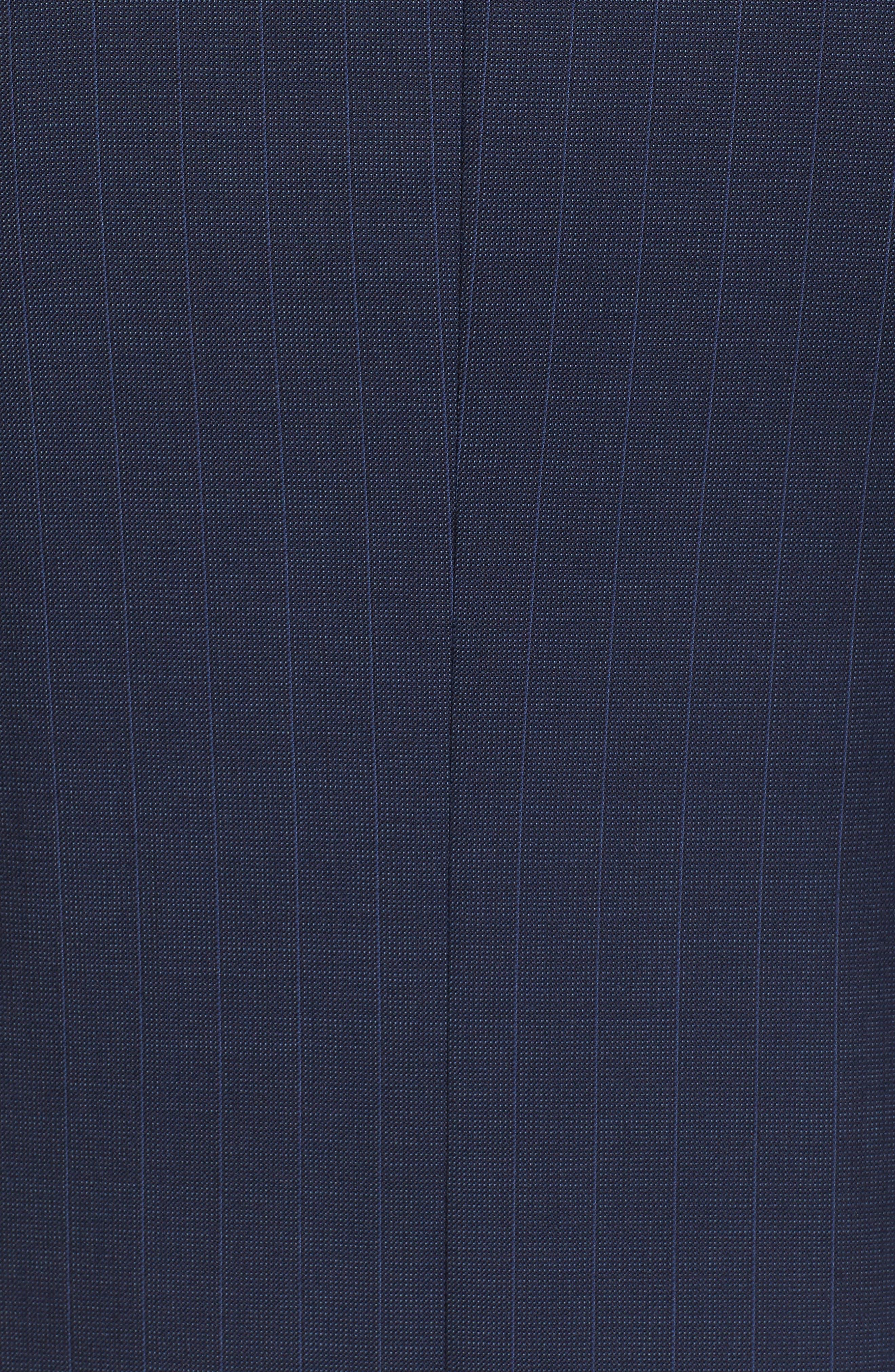 Jay Trim Fit Stripe Wool Suit,                             Alternate thumbnail 7, color,                             400
