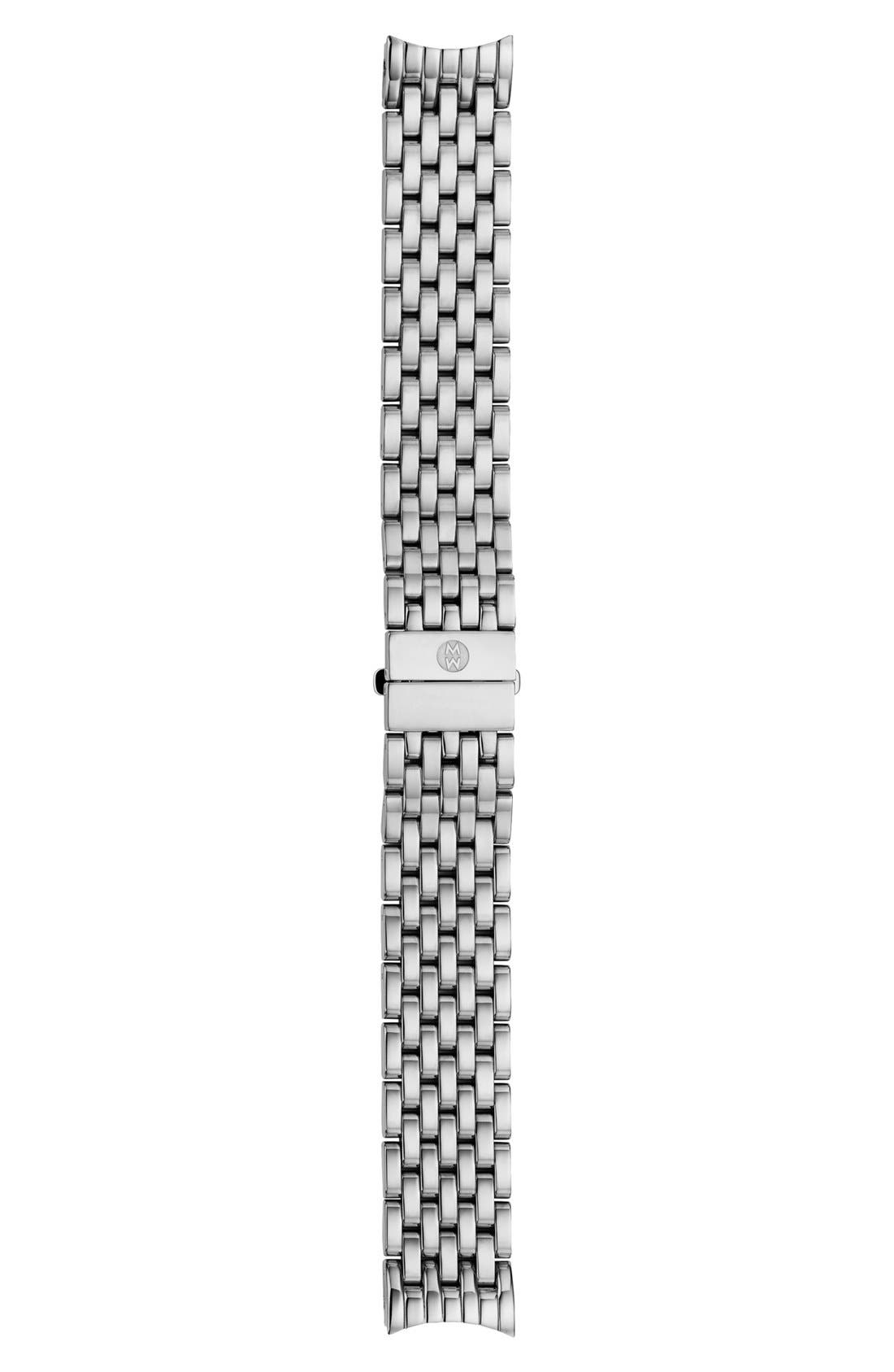 'Serein' 18mm Watch Bracelet Band,                             Alternate thumbnail 5, color,                             SILVER