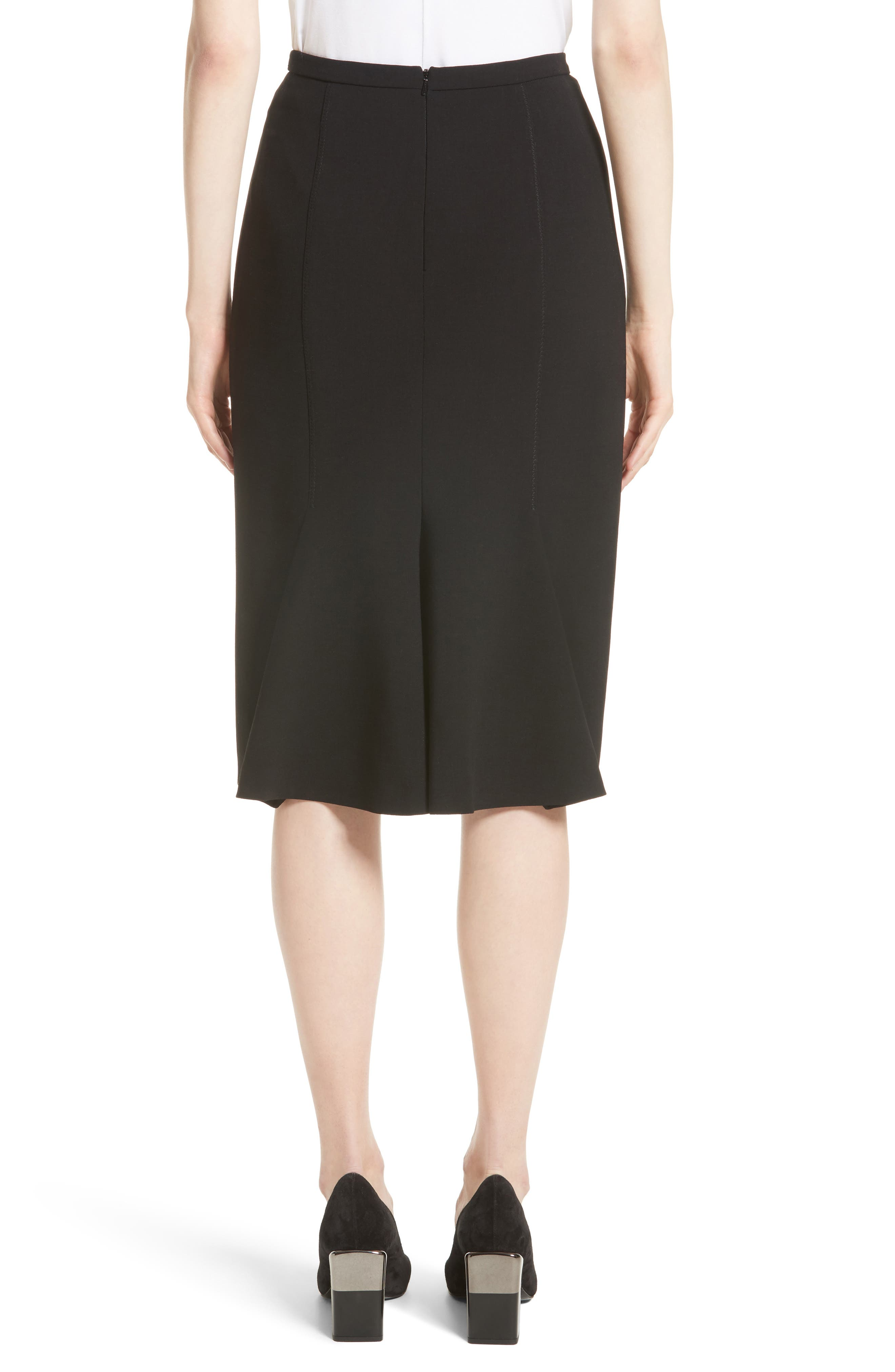 Bugia Stretch Wool Skirt,                             Alternate thumbnail 2, color,                             001
