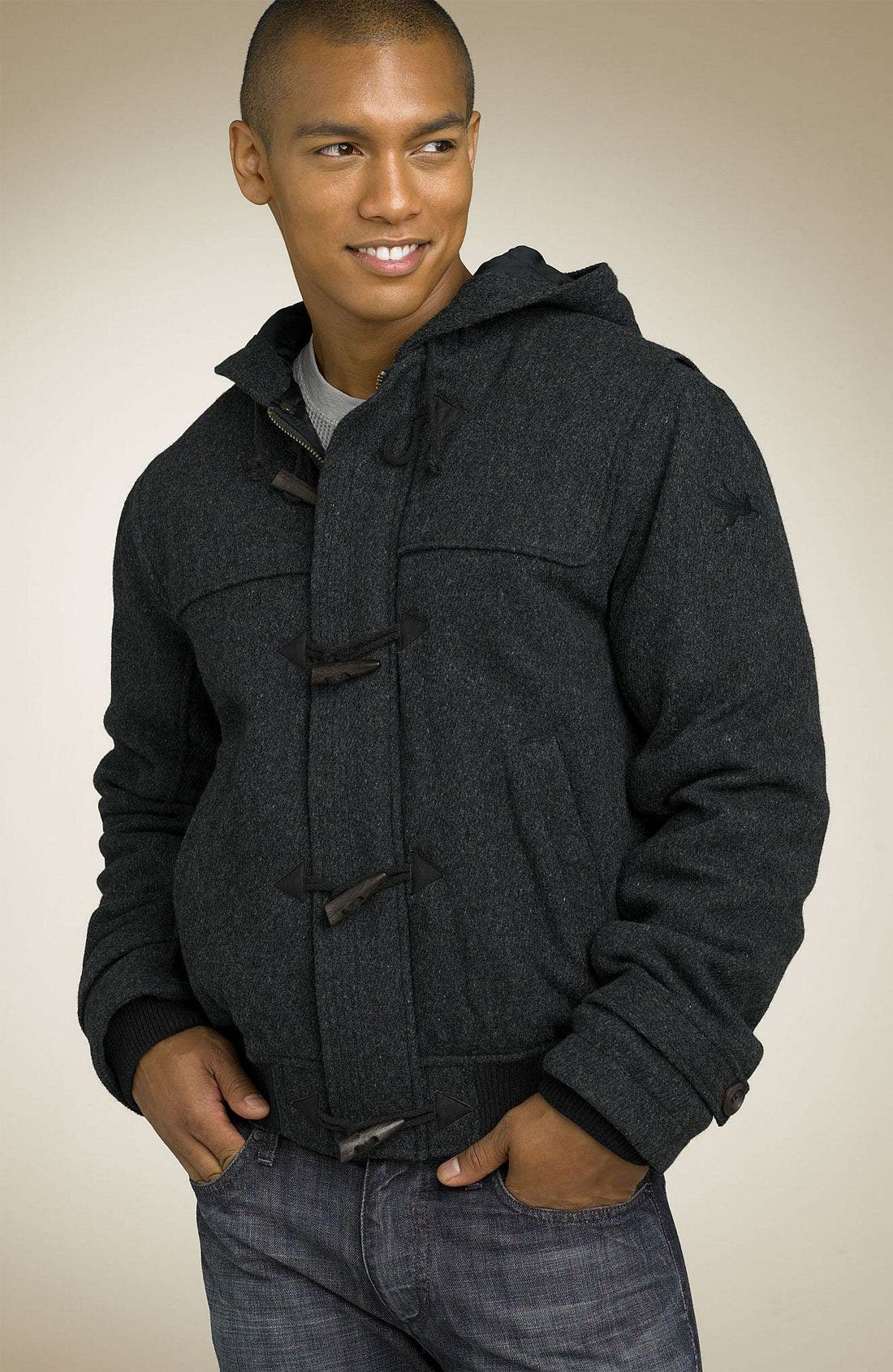 SPIEWAK,                             'Harris' Wool Duffle Jacket,                             Main thumbnail 1, color,                             029