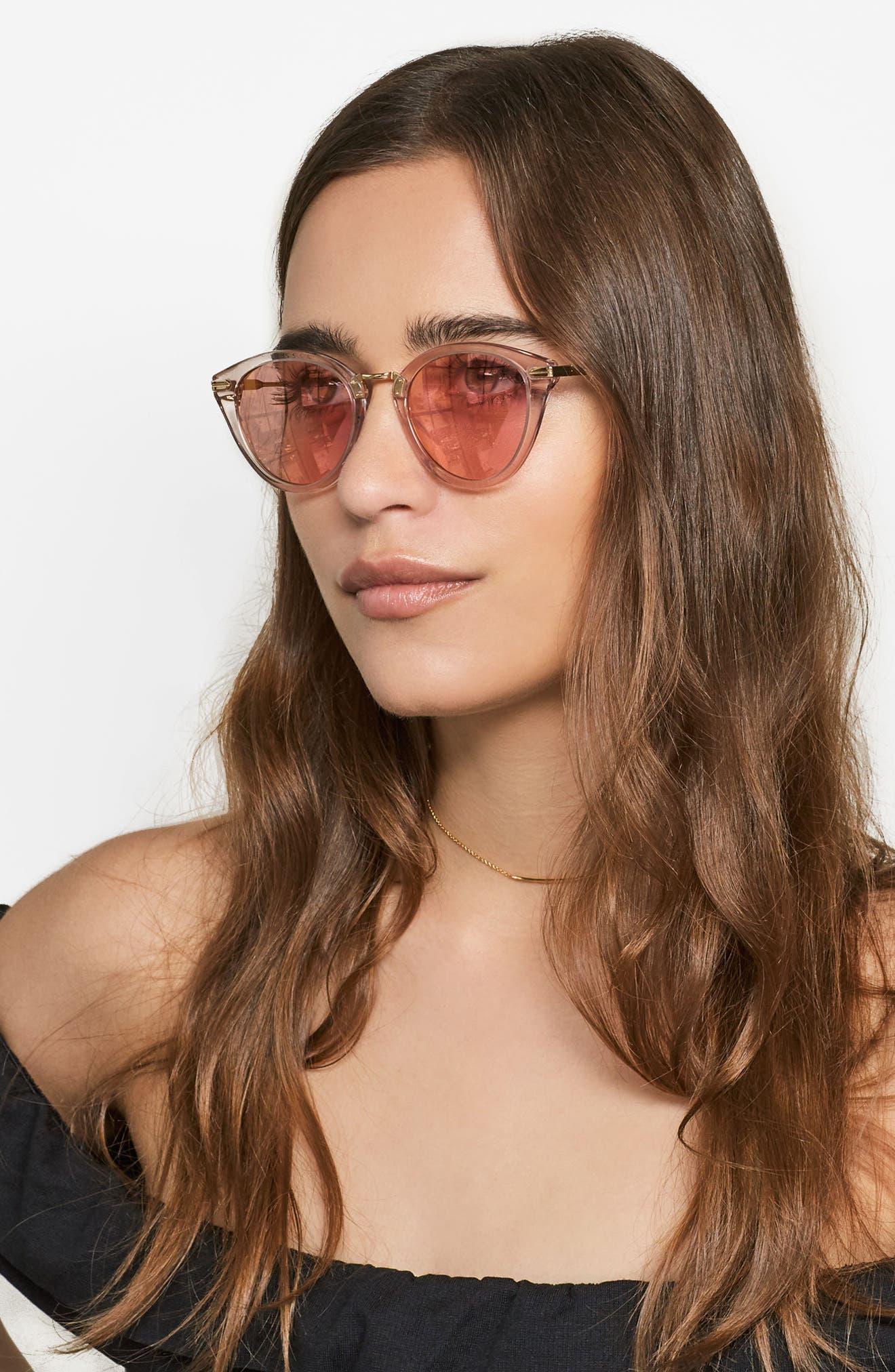 Quinn 48mm Cat Eye Sunglasses,                             Alternate thumbnail 16, color,