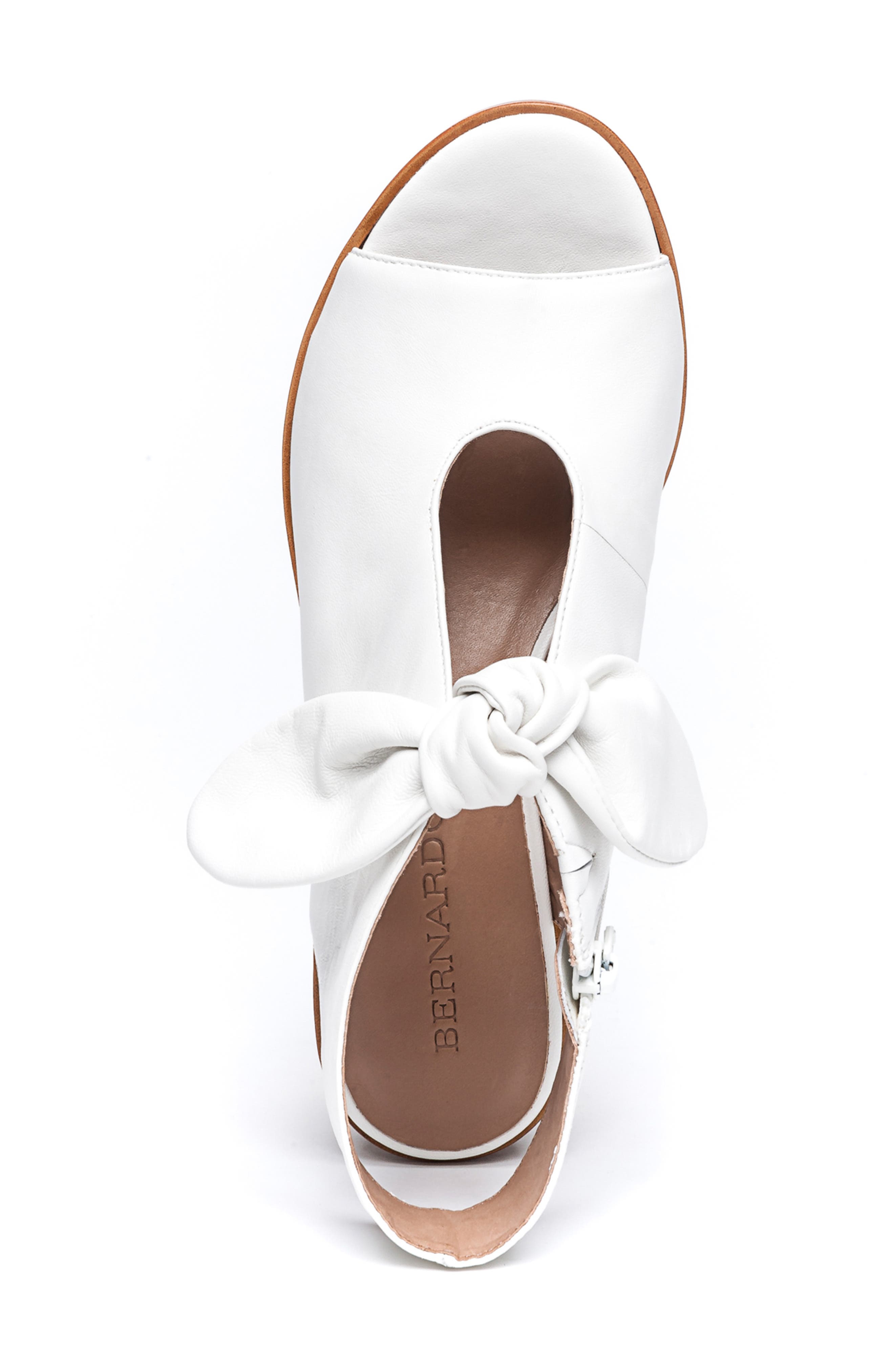 Bernardo Luna Sandal,                             Alternate thumbnail 5, color,                             WHITE LEATHER