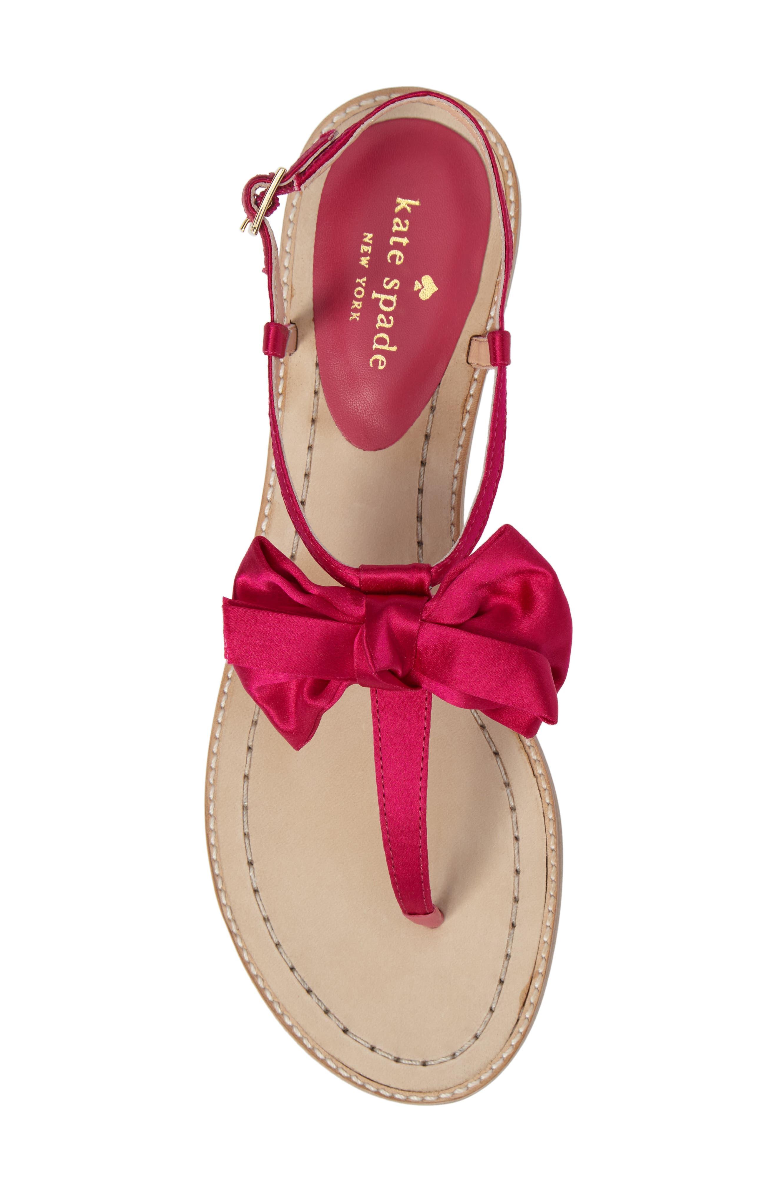 serrano bow sandal,                             Alternate thumbnail 19, color,