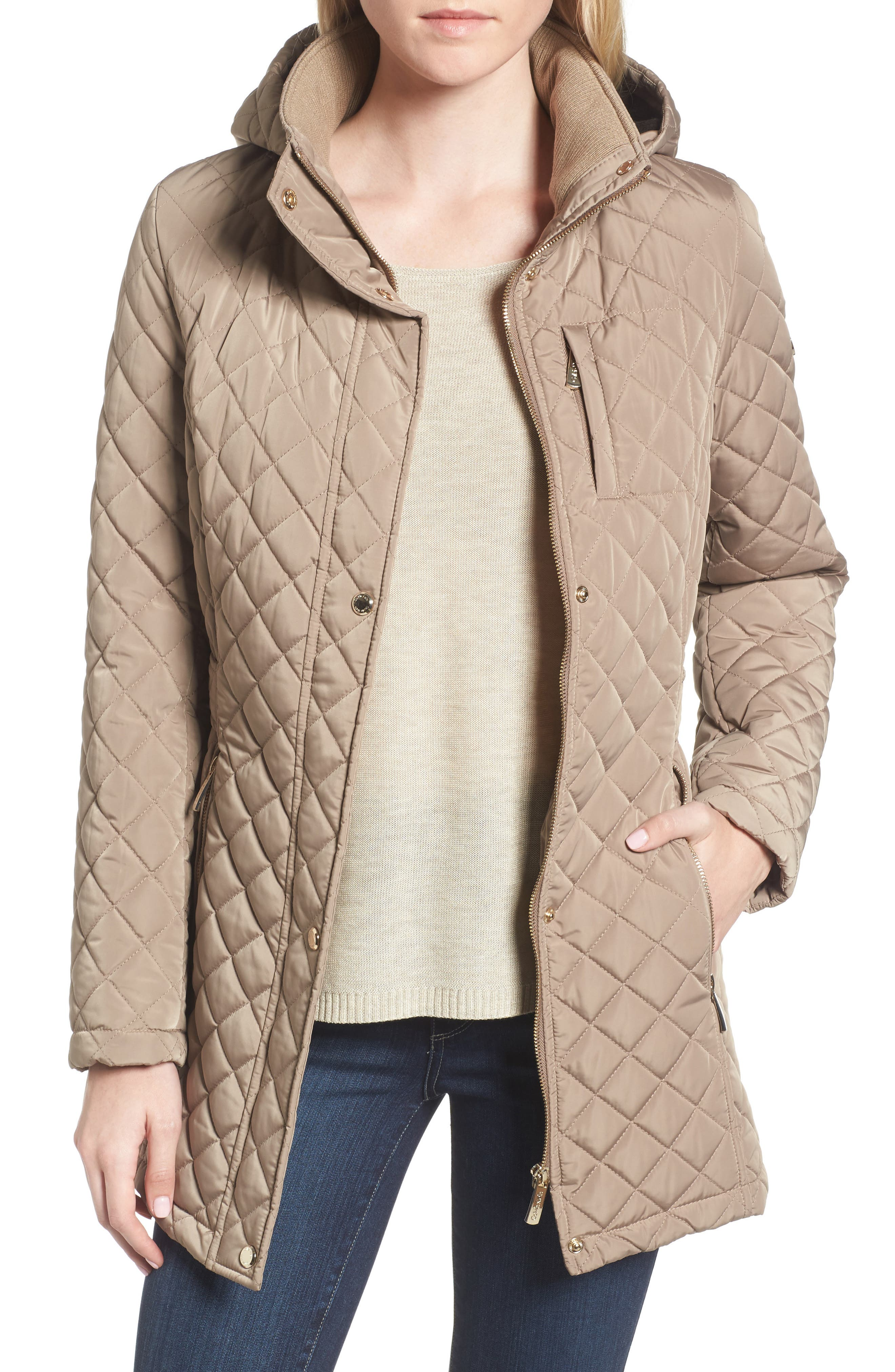 Hooded Quilted Jacket,                             Alternate thumbnail 9, color,