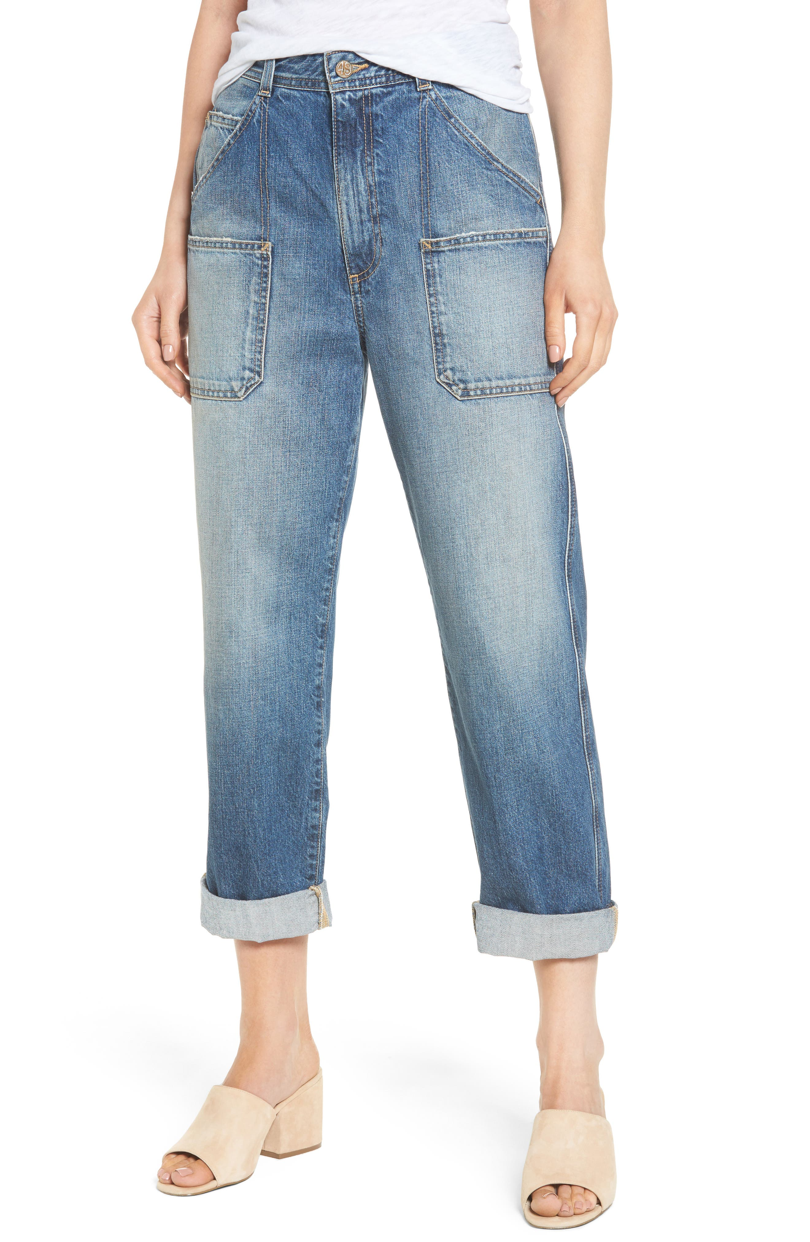 Cody Rolled Hem Jeans,                             Main thumbnail 1, color,