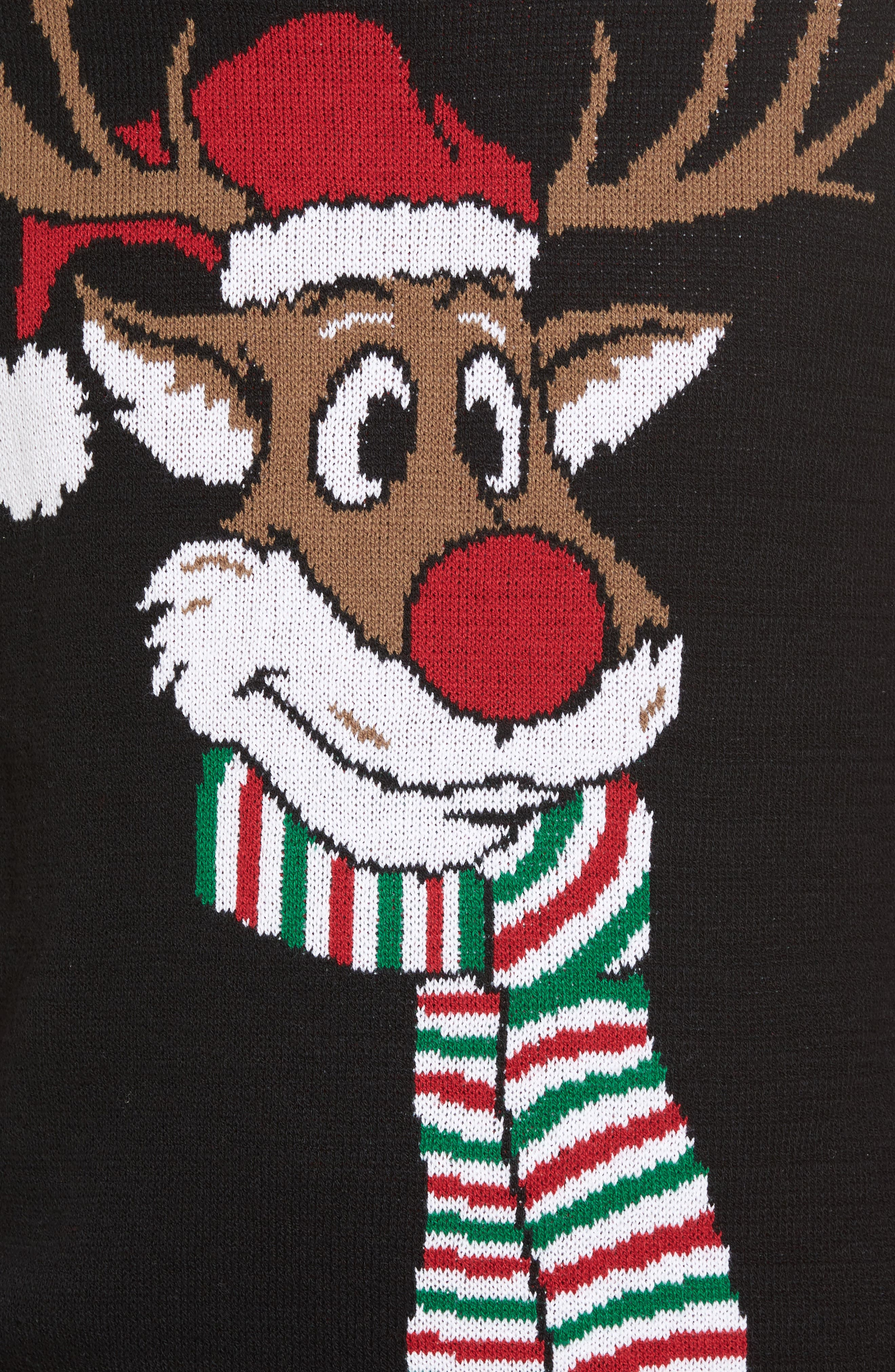 Reindeer Sweater,                             Alternate thumbnail 5, color,                             001