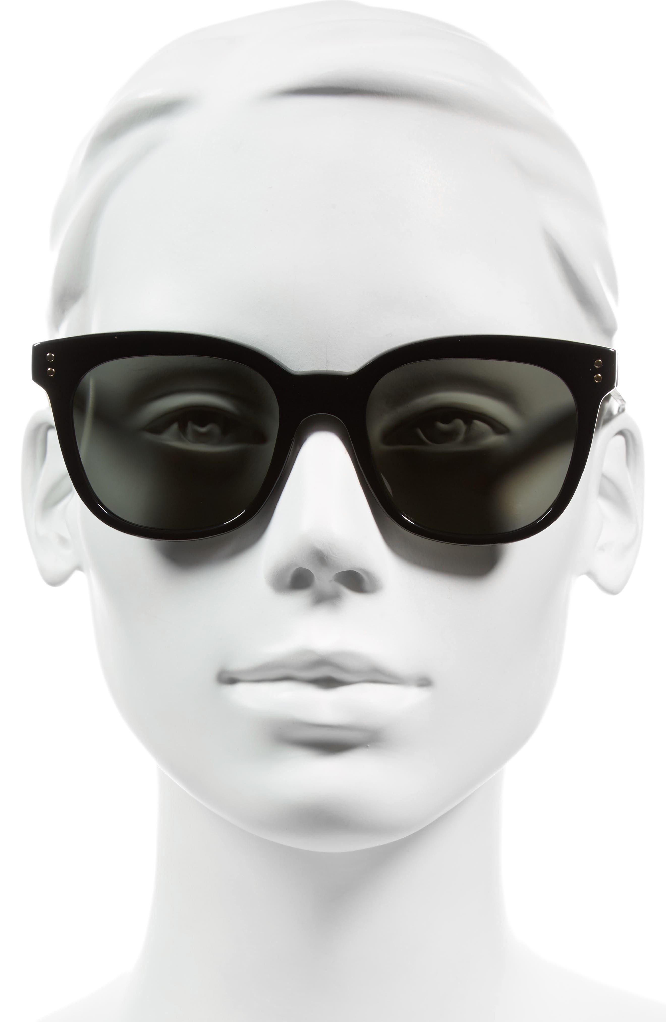 The VB 52mm Retro Sunglasses,                             Alternate thumbnail 3, color,                             BLACK/ SOFT GREY