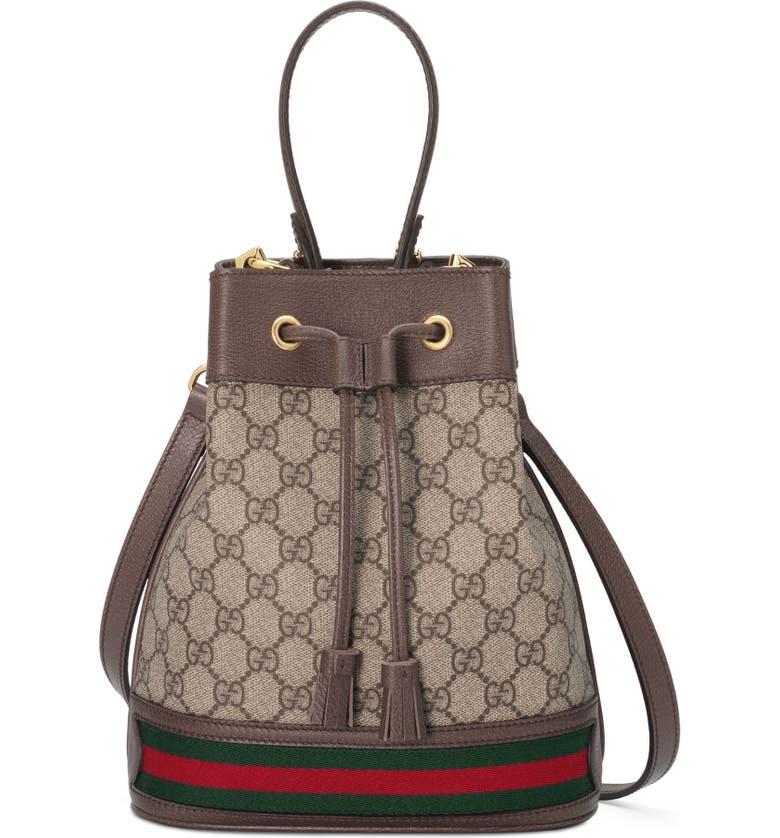99b880df7620 Gucci Small Ophidia GG Supreme Canvas Bucket Bag