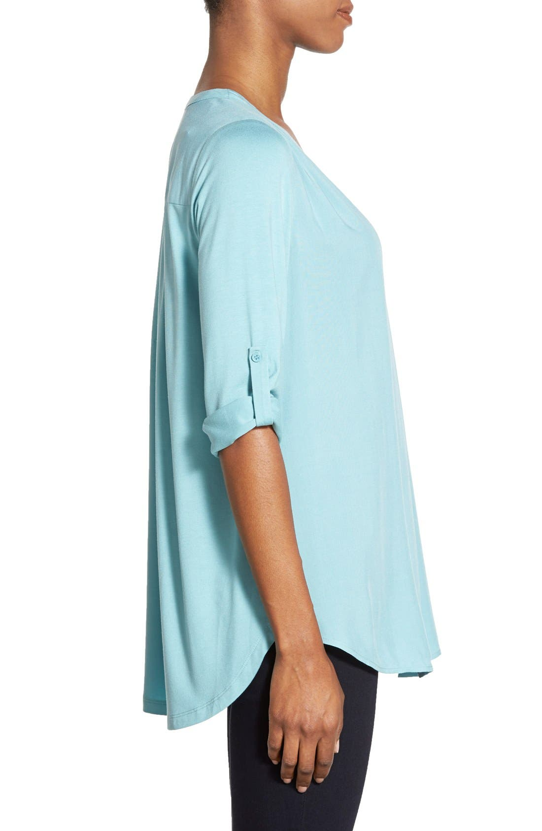 Mixed Media V-Neck Tunic,                             Alternate thumbnail 82, color,