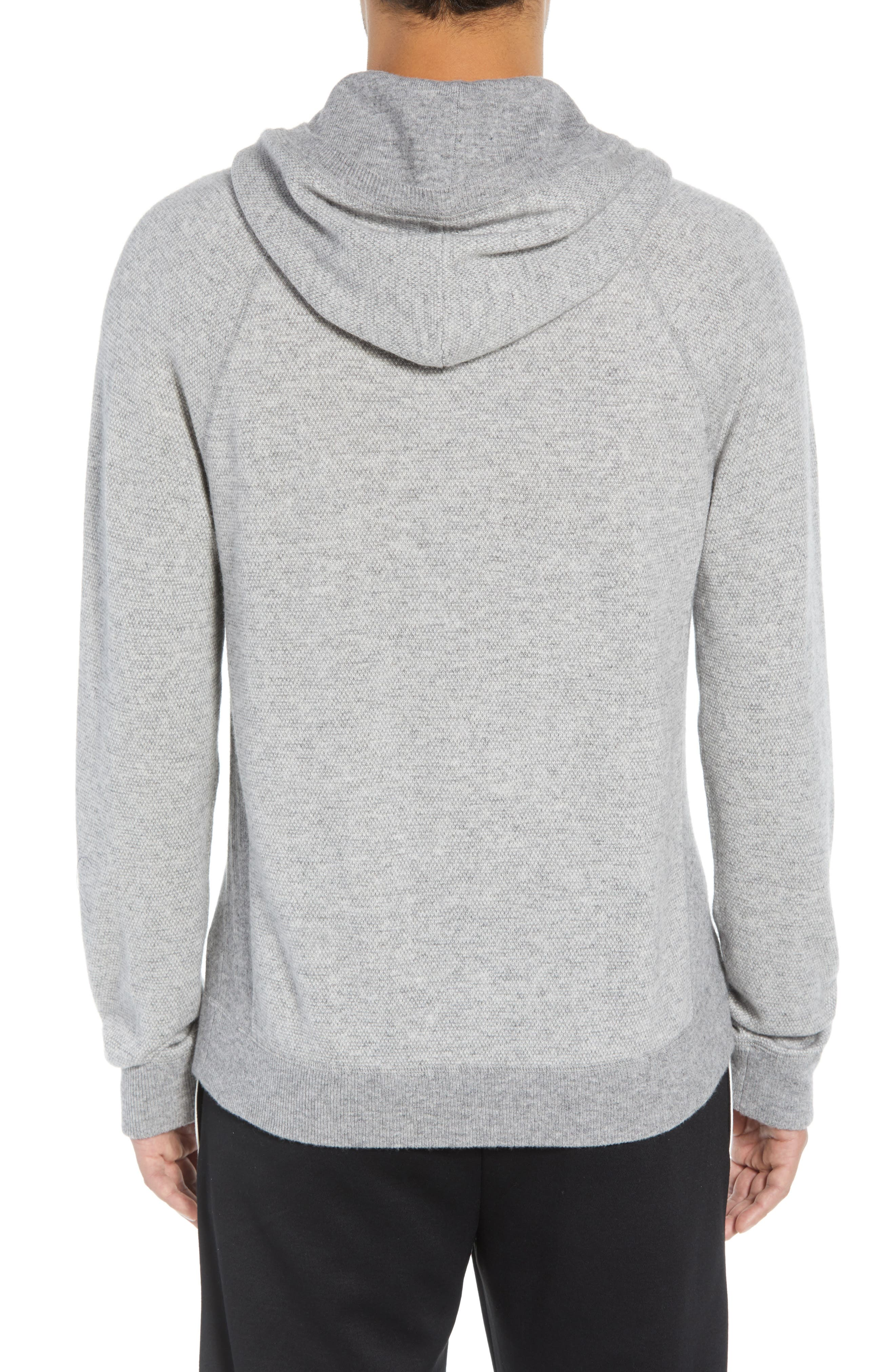 Regular Fit Bird's Eye Hoodie,                             Alternate thumbnail 2, color,                             H GREY/ PEARL
