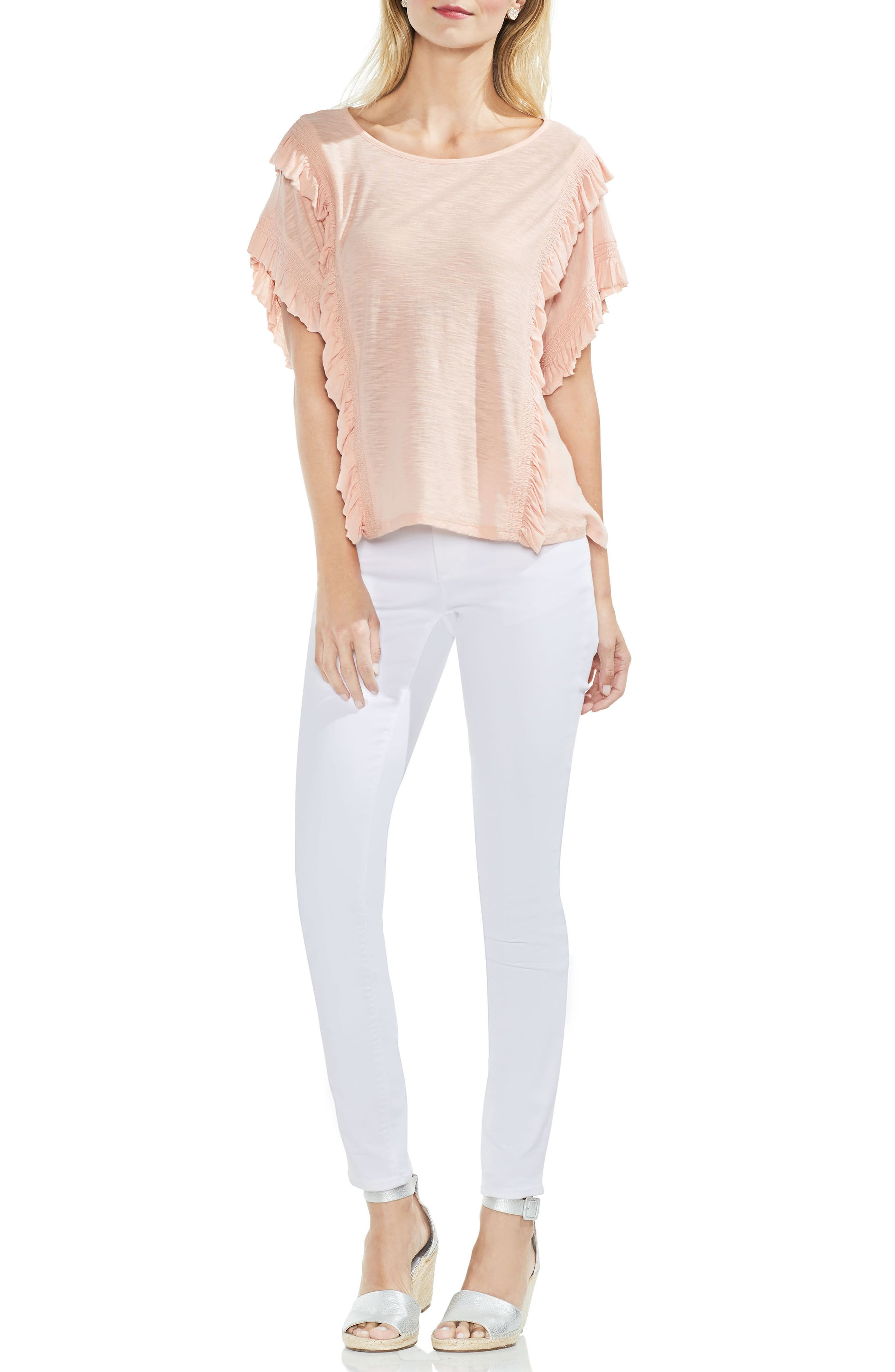Ruffle Front Top,                             Alternate thumbnail 12, color,